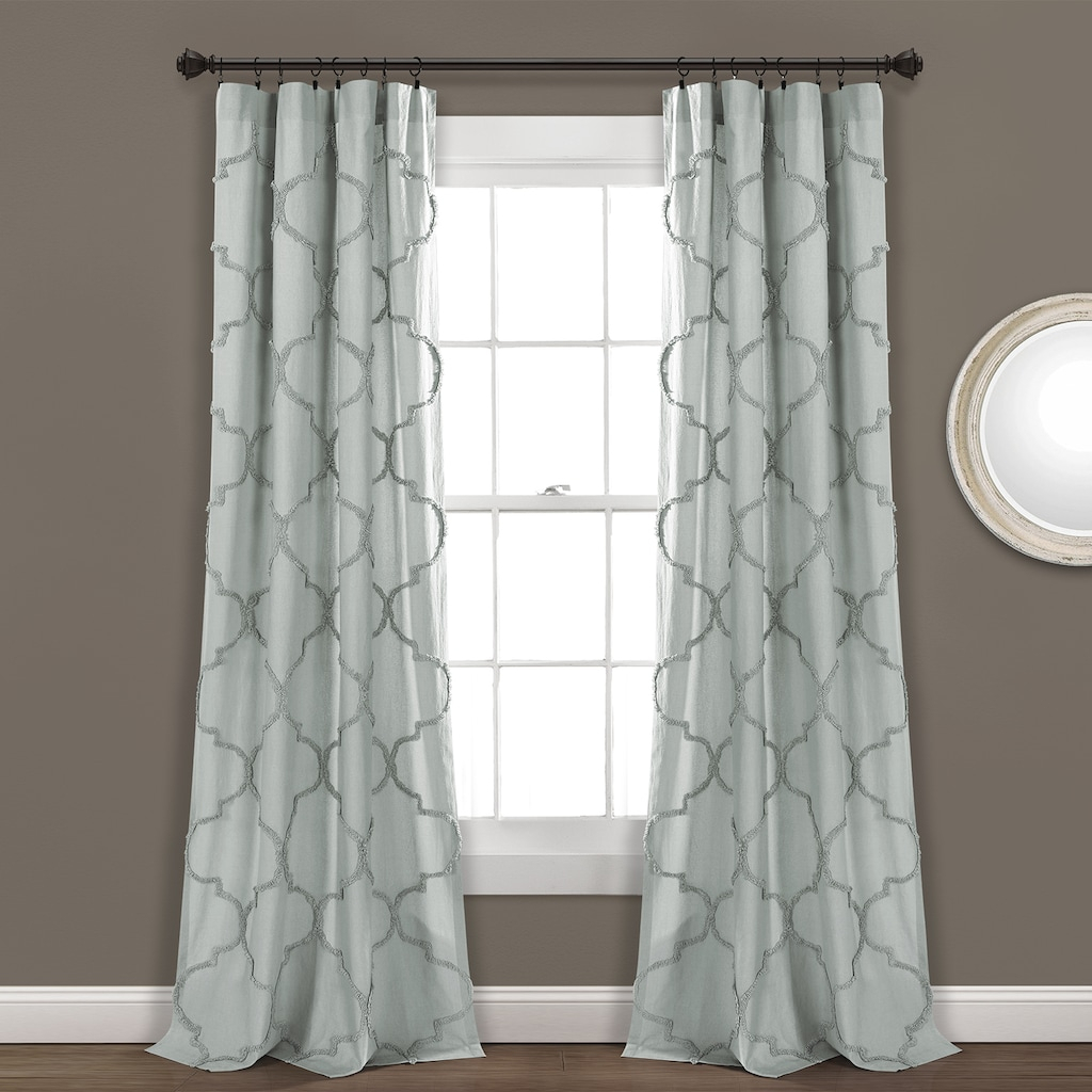 Lush Decor 2 Pack Avon Chenille Trellis Window Curtains Inside Ombre Stripe Yarn Dyed Cotton Window Curtain Panel Pairs (View 11 of 20)