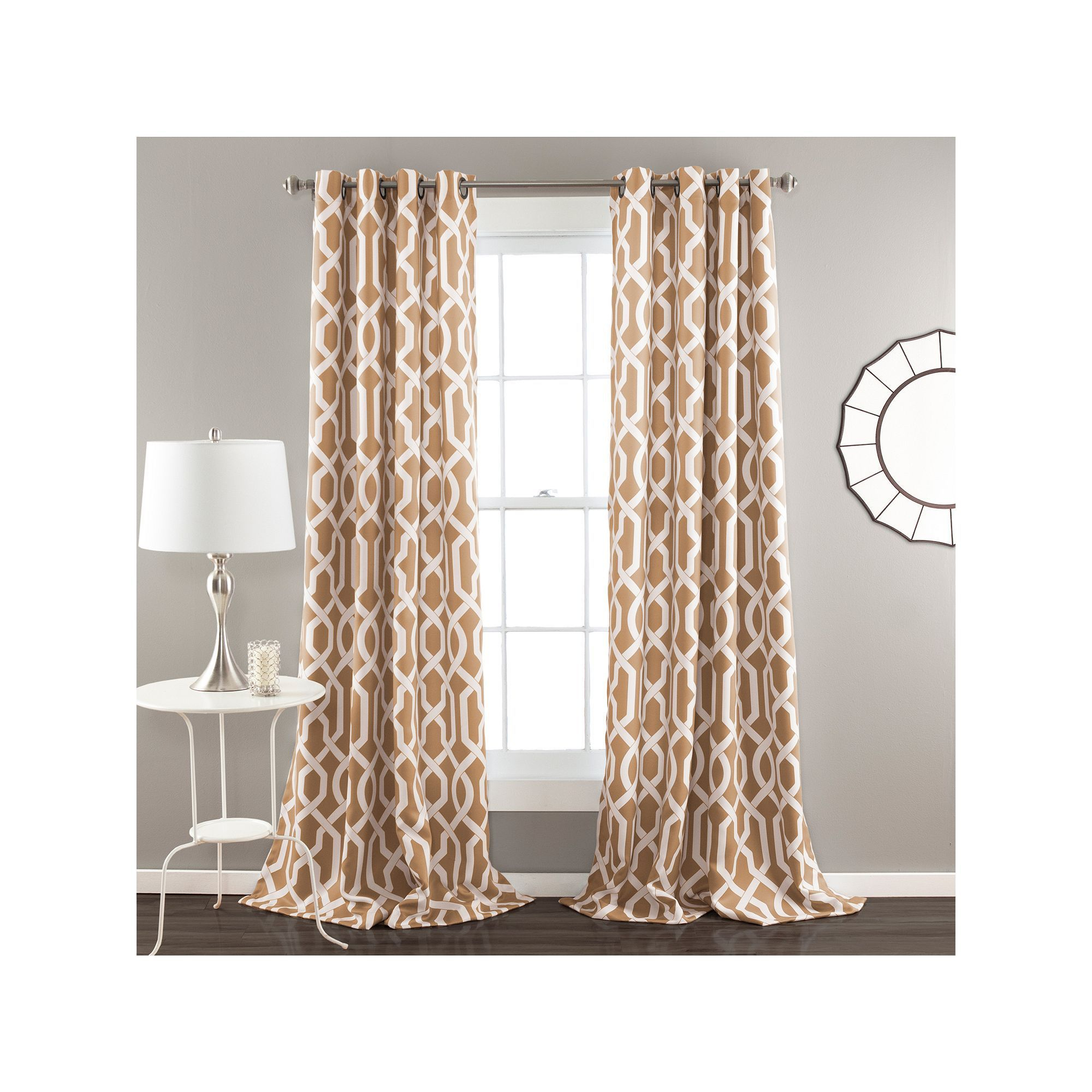 Lush Decor 2 Pack Edward Room Darkening Window Curtains Throughout Edward Moroccan Pattern Room Darkening Curtain Panel Pairs (View 11 of 20)