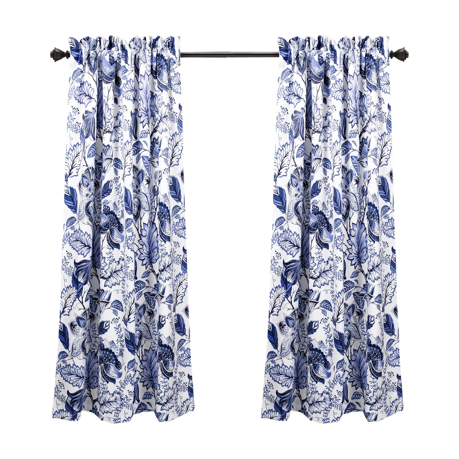 Lush Decor Cynthia Jacobean Panel Pair In 2019 | Products Intended For Cynthia Jacobean Room Darkening Curtain Panel Pairs (View 13 of 20)