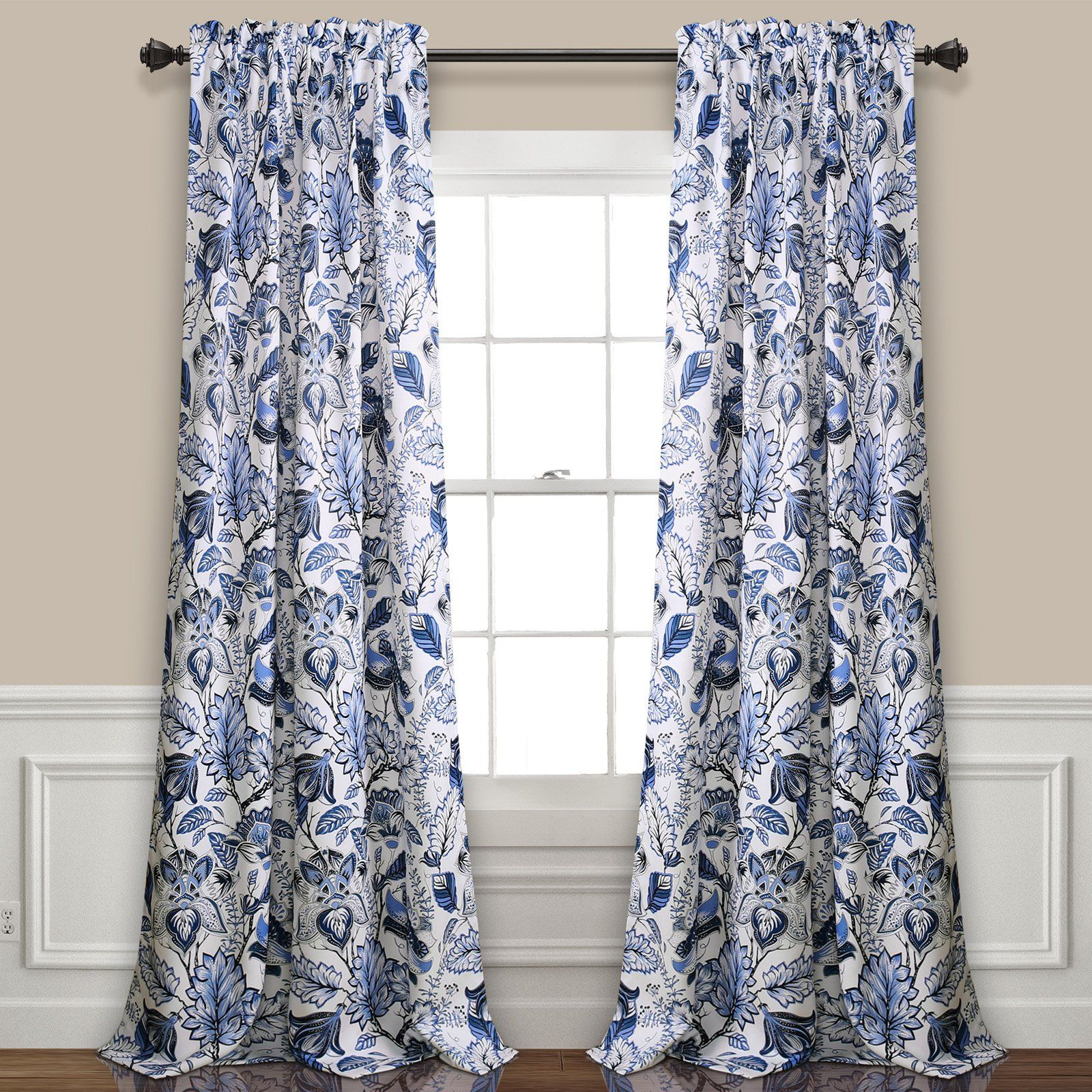 Lush Decor Cynthia Jacobean Panel Pair In 2019 | Products With Dolores Room Darkening Floral Curtain Panel Pairs (View 8 of 20)