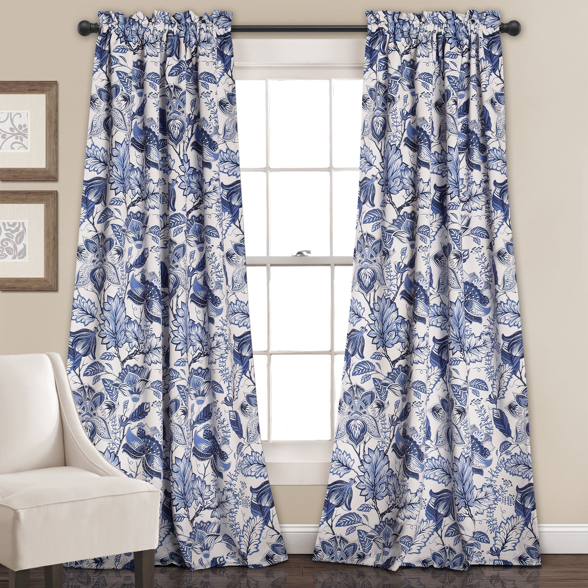 Popular Photo of Cynthia Jacobean Room Darkening Curtain Panel Pairs