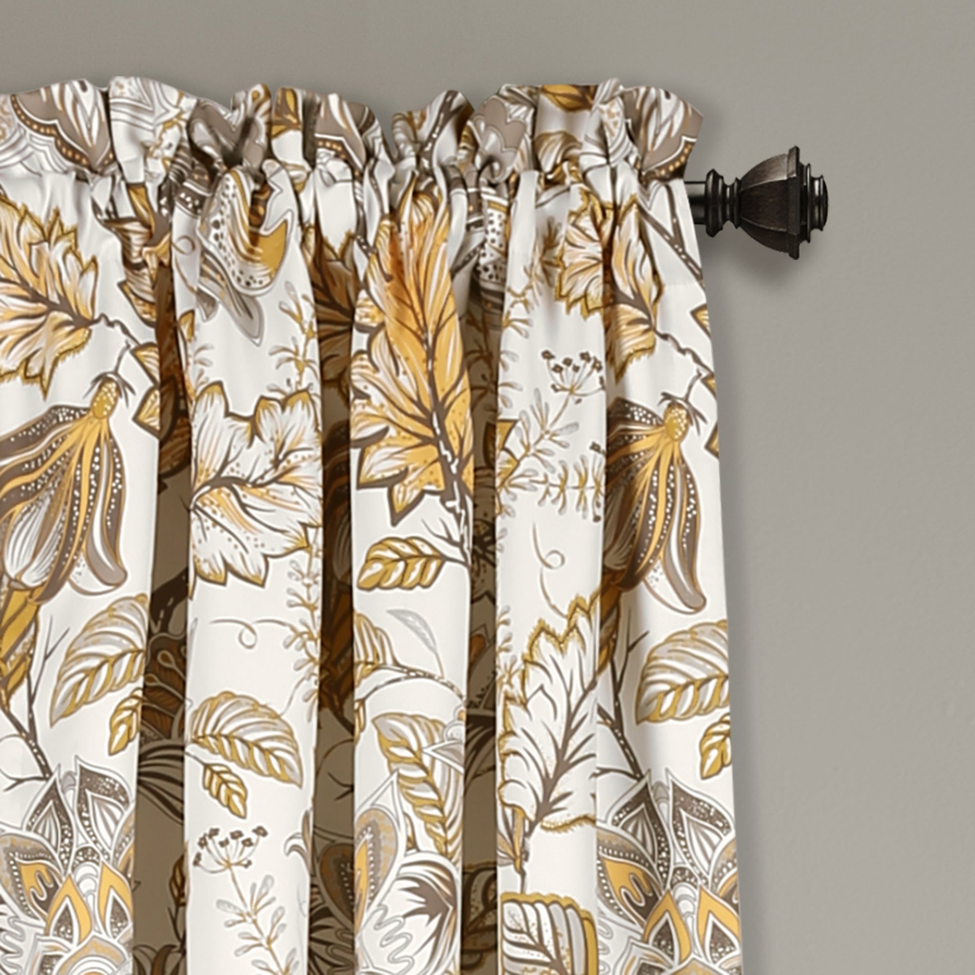 Lush Decor Cynthia Jacobean Room Darkening Curtain Panel Pair Pertaining To Cynthia Jacobean Room Darkening Curtain Panel Pairs (View 16 of 20)