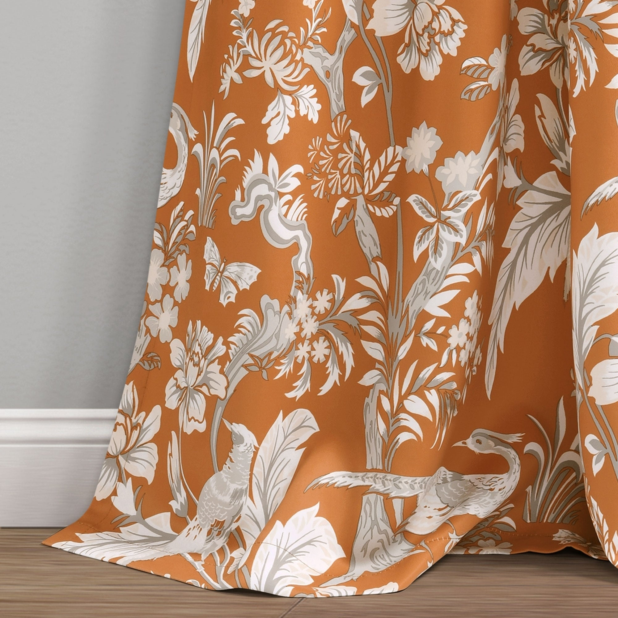 Lush Decor Dolores Room Darkening Floral Curtain Panel Pair For Dolores Room Darkening Floral Curtain Panel Pairs (View 6 of 20)