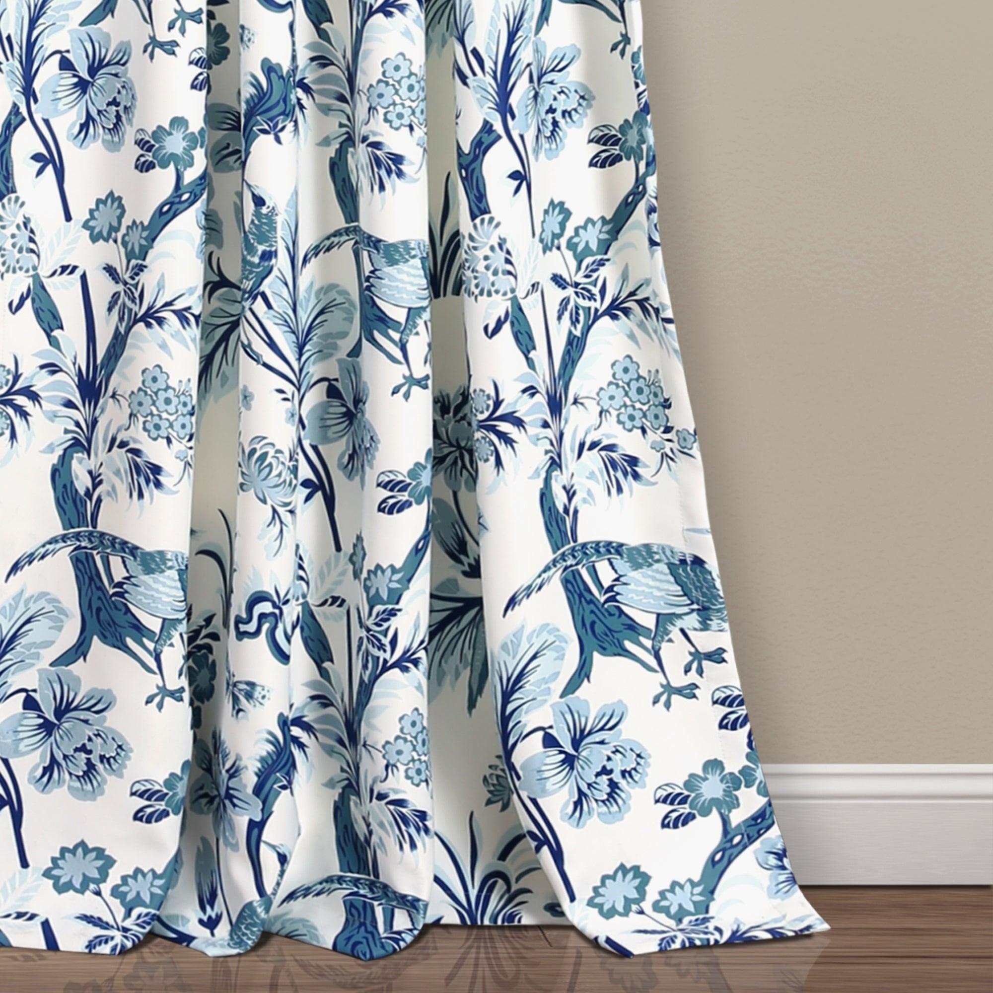 Lush Decor Dolores Room Darkening Floral Curtain Panel Pair Intended For Dolores Room Darkening Floral Curtain Panel Pairs (View 4 of 20)
