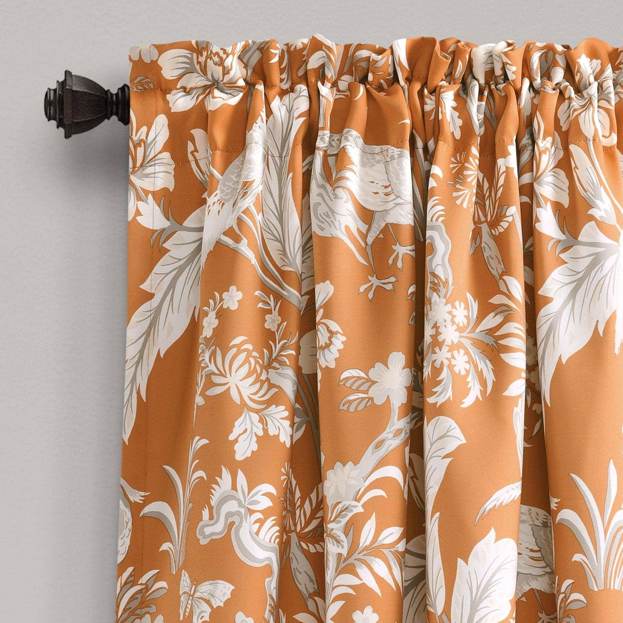 Lush Decor Dolores Room Darkening Floral Curtain Panel Pair Intended For Dolores Room Darkening Floral Curtain Panel Pairs (View 5 of 20)