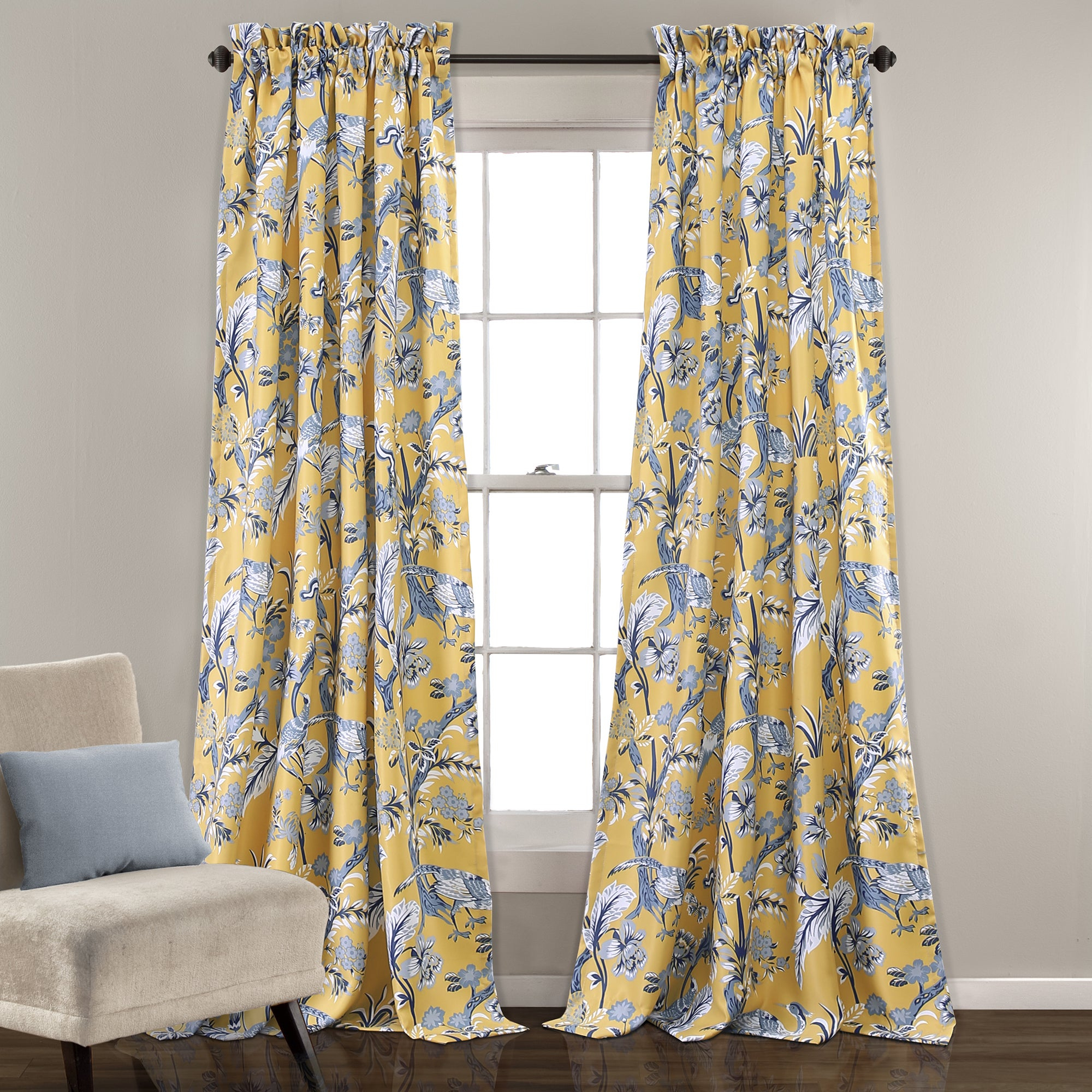 Lush Decor Dolores Room Darkening Floral Curtain Panel Pair pertaining to Floral Pattern Room Darkening Window Curtain Panel Pairs (Image 10 of 20)