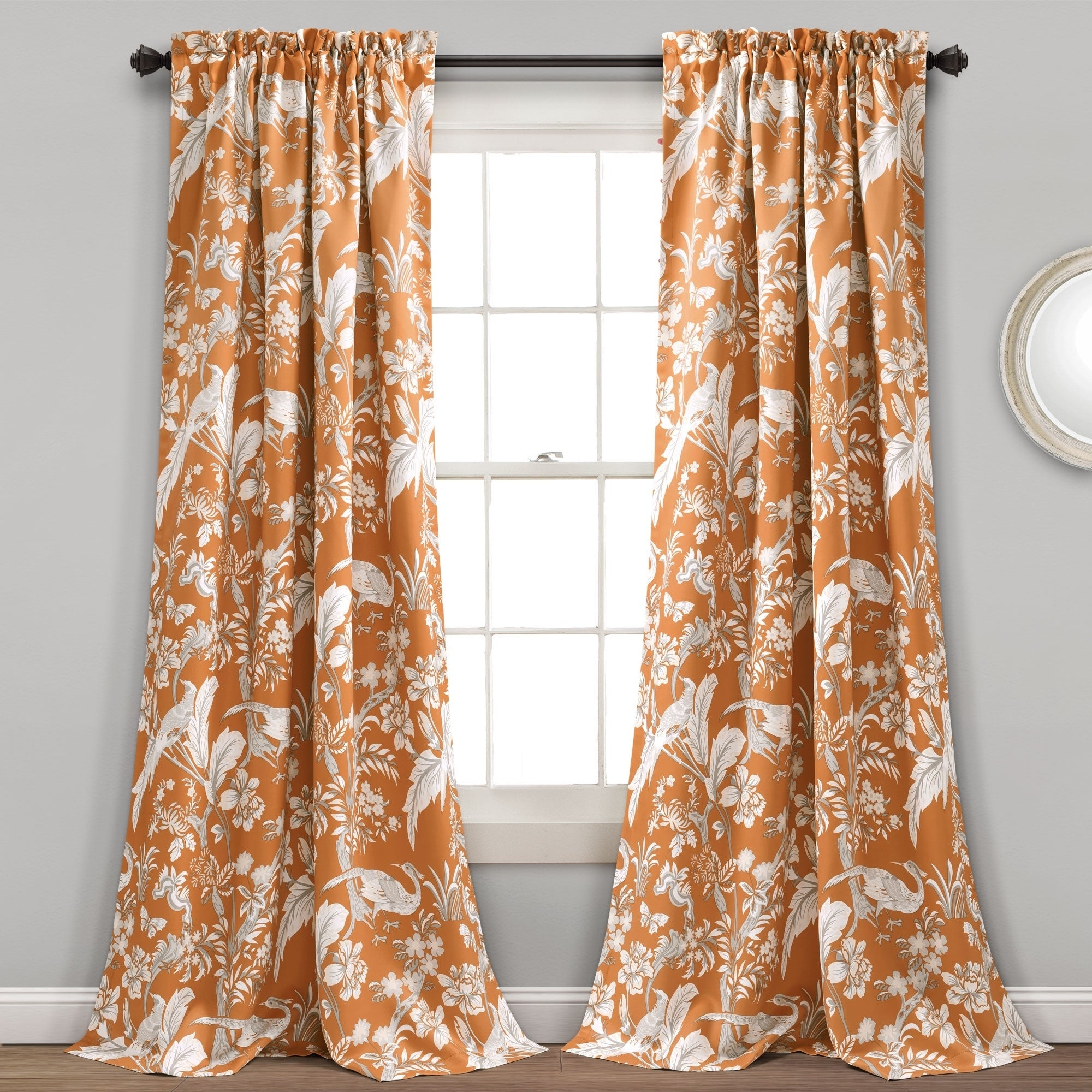 Featured Photo of Dolores Room Darkening Floral Curtain Panel Pairs