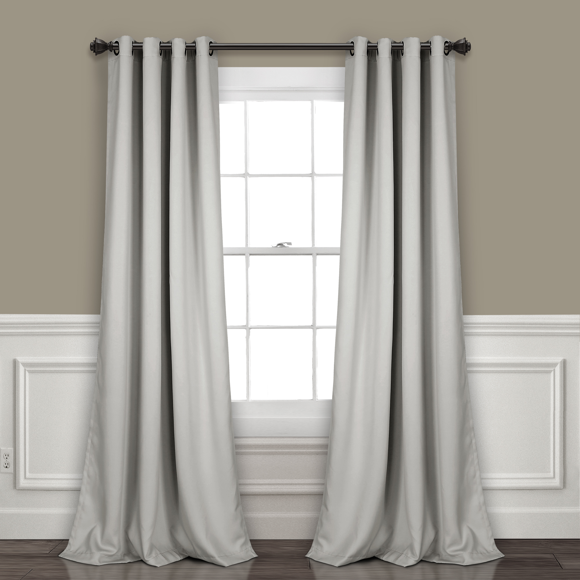 Lush Decor Insulated Grommet Blackout Curtain Panels Pair Pertaining To Insulated Grommet Blackout Curtain Panel Pairs (View 14 of 20)