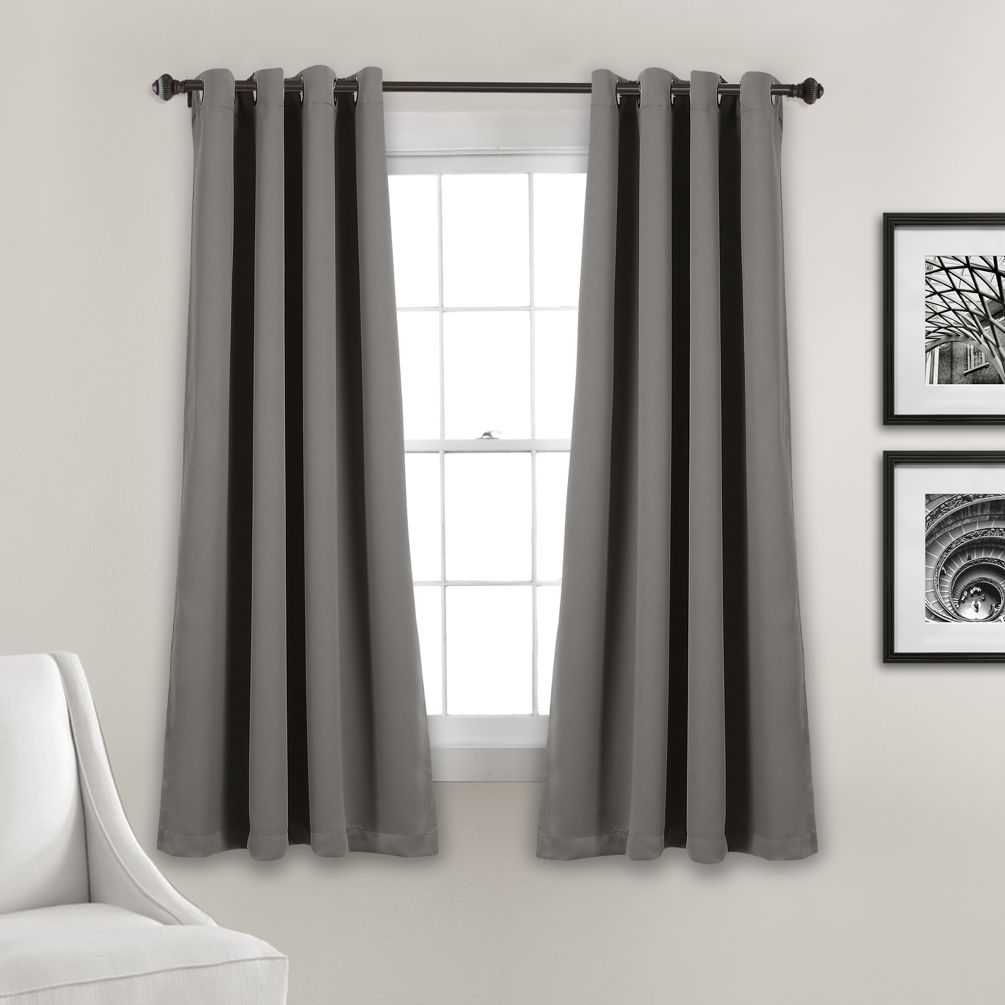 Lush Décor Insulated Grommet Blackout Curtain Panels Pair With Insulated Grommet Blackout Curtain Panel Pairs (View 15 of 20)
