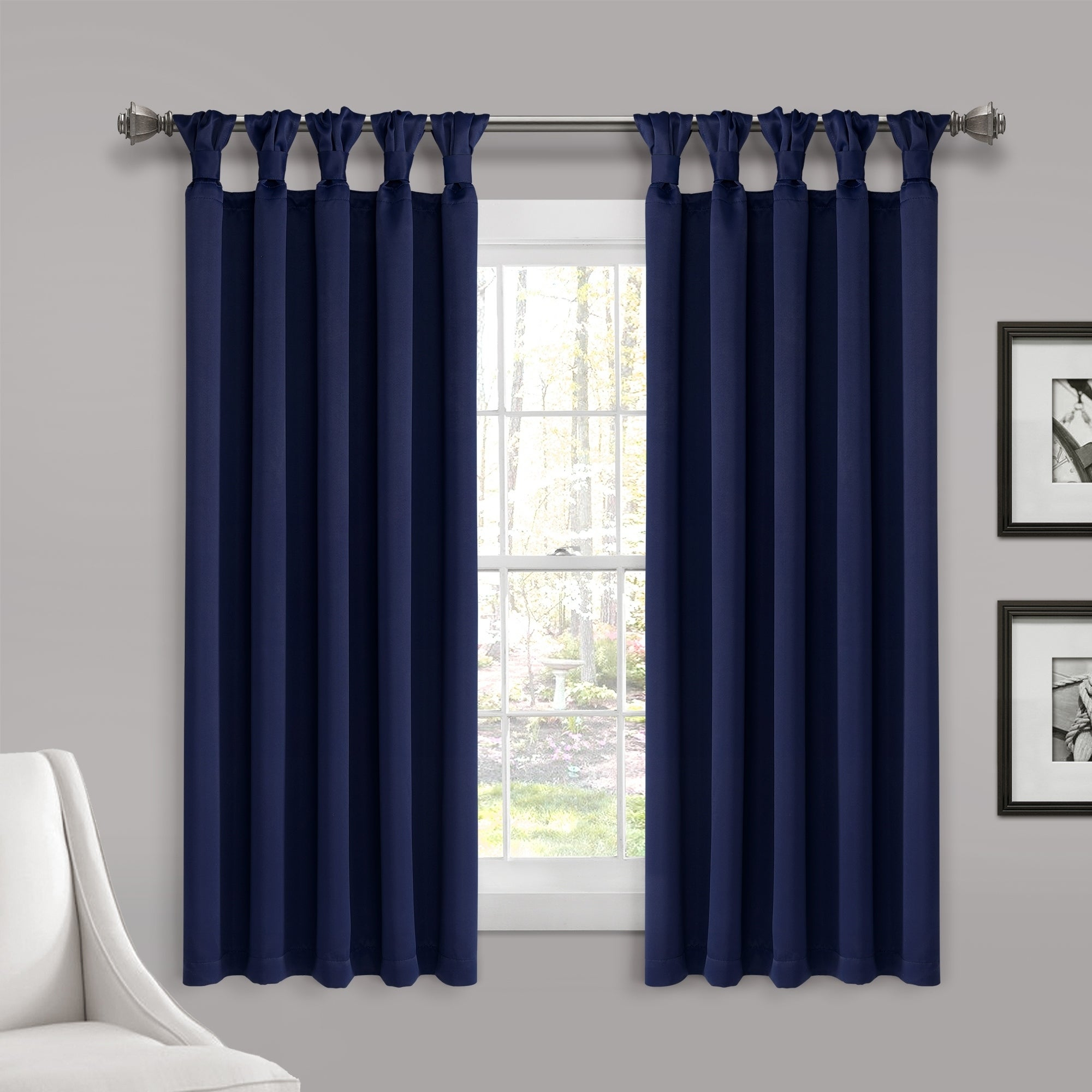 Lush Decor Insulated Knotted Tab Top Blackout Window Curtain Panel Pair For Knotted Tab Top Window Curtain Panel Pairs (View 4 of 20)