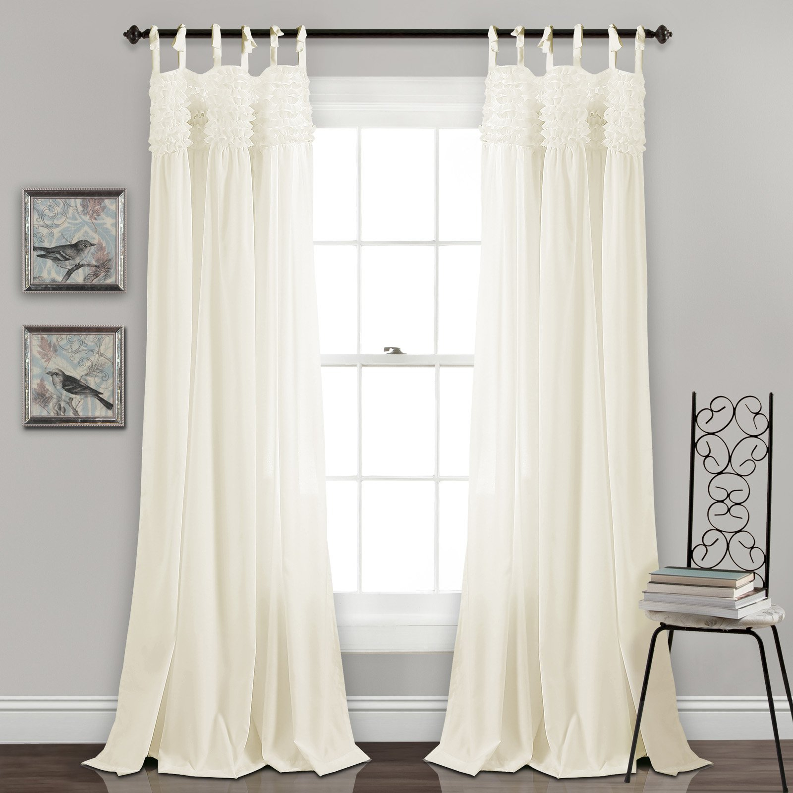Lush Decor Lydia Ruffle Panel Pair Ivory | Products In 2019 Within Ruffle Diamond Curtain Panel Pairs (View 12 of 20)