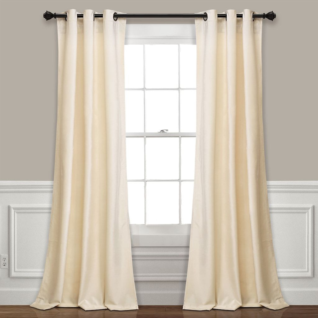 Lush Decor Prima Velvet Solid Room Darkening Window Curtain With Regard To Velvet Solid Room Darkening Window Curtain Panel Sets (View 7 of 30)