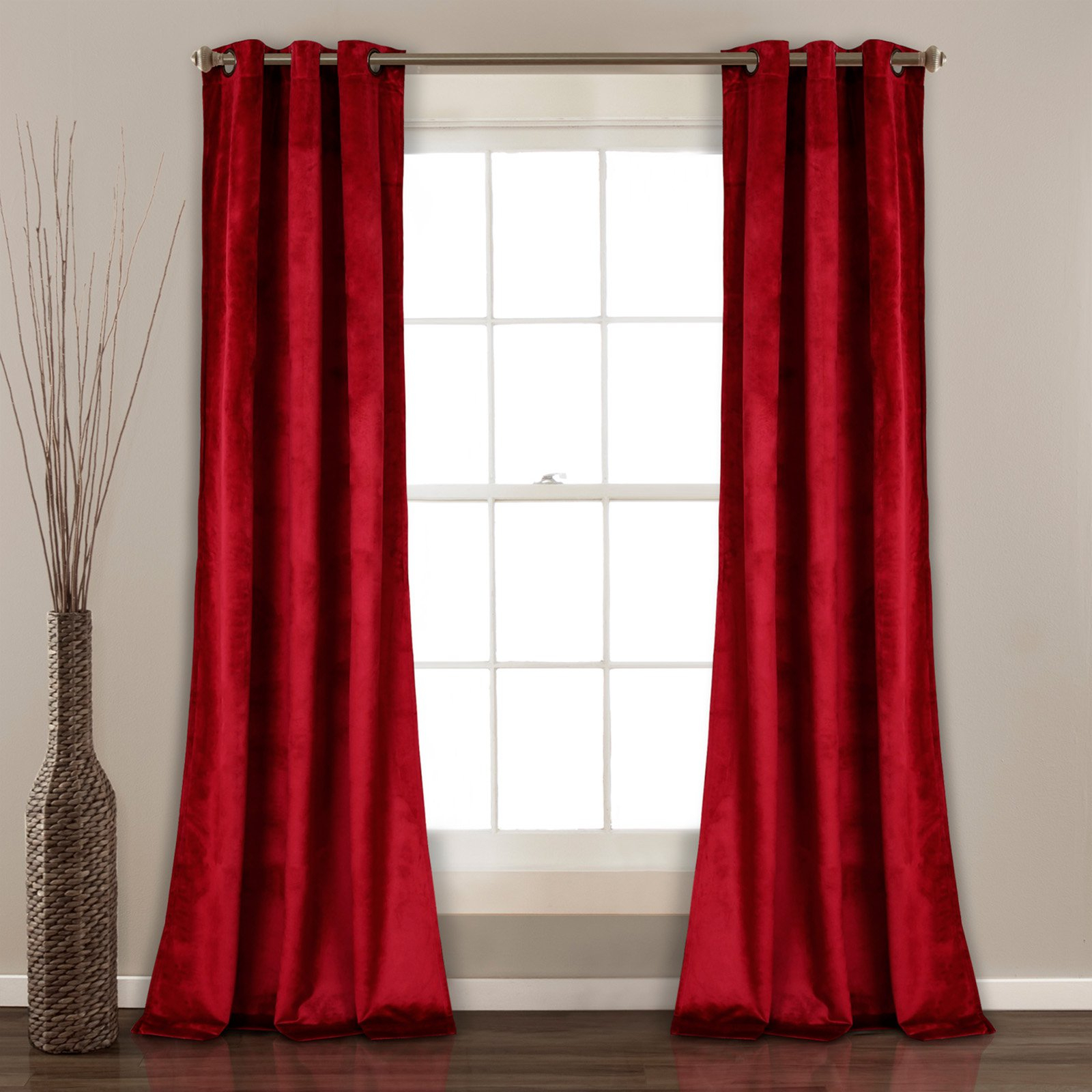 Lush Decor Prima Velvet Solid Room Darkening Window Curtain Within Velvet Solid Room Darkening Window Curtain Panel Sets (View 3 of 30)