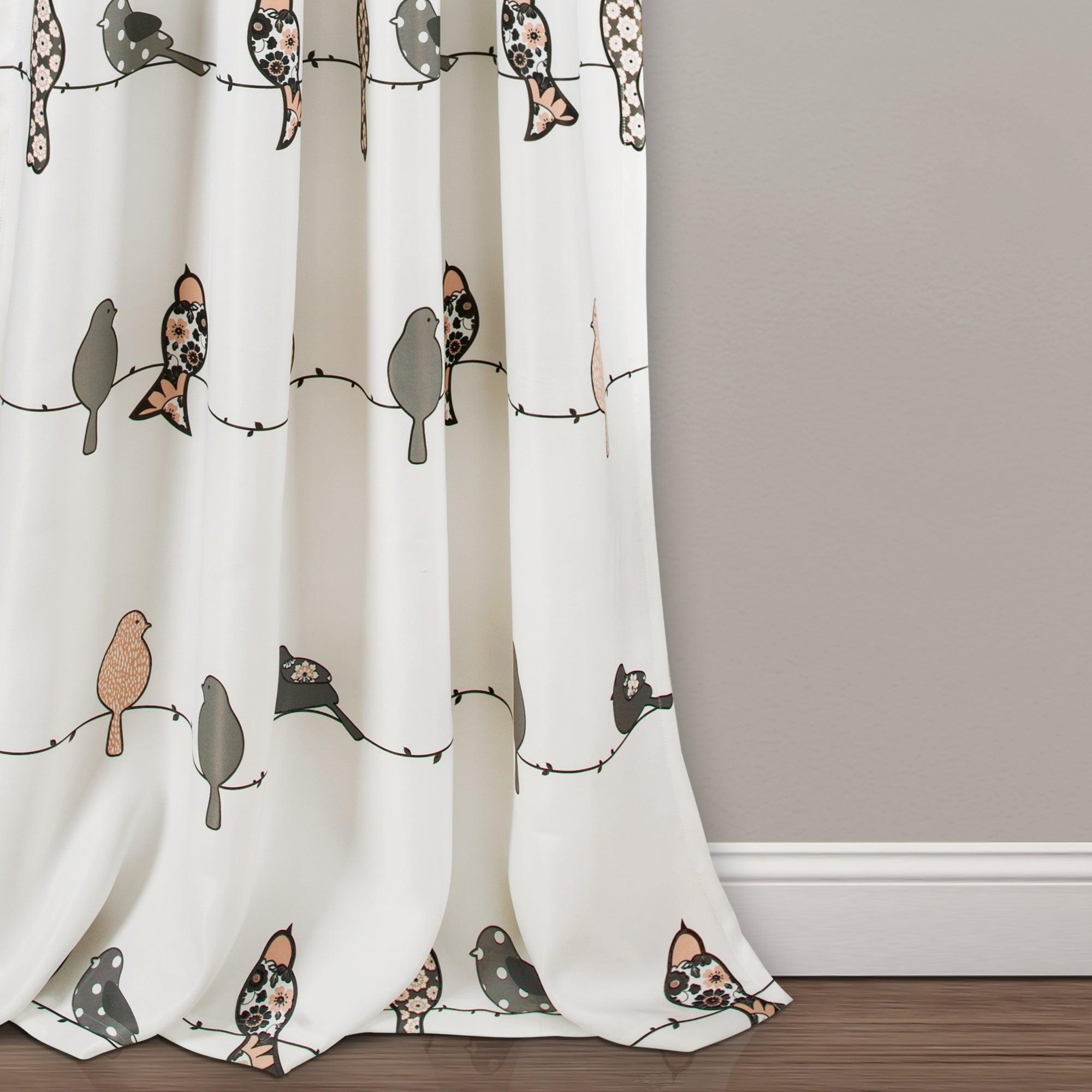 Lush Decor Rowley Birds Room Darkening Curtain Panel Pair In Rowley Birds Room Darkening Curtain Panel Pairs (View 3 of 20)