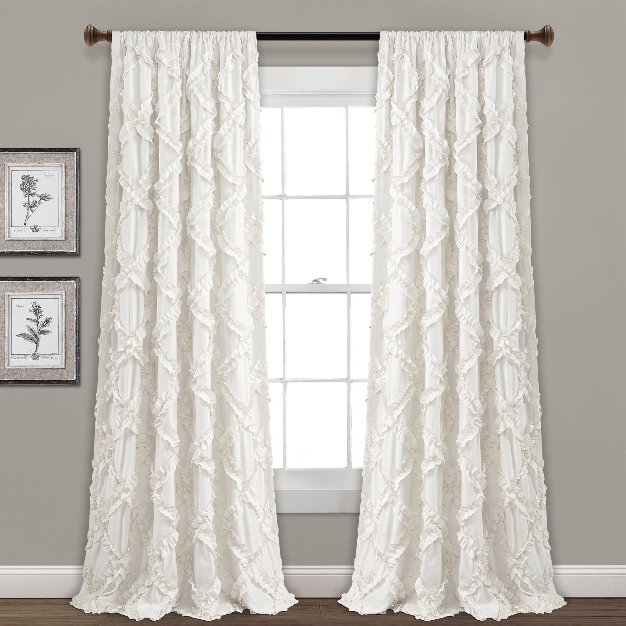 Featured Photo of Ruffle Diamond Curtain Panel Pairs