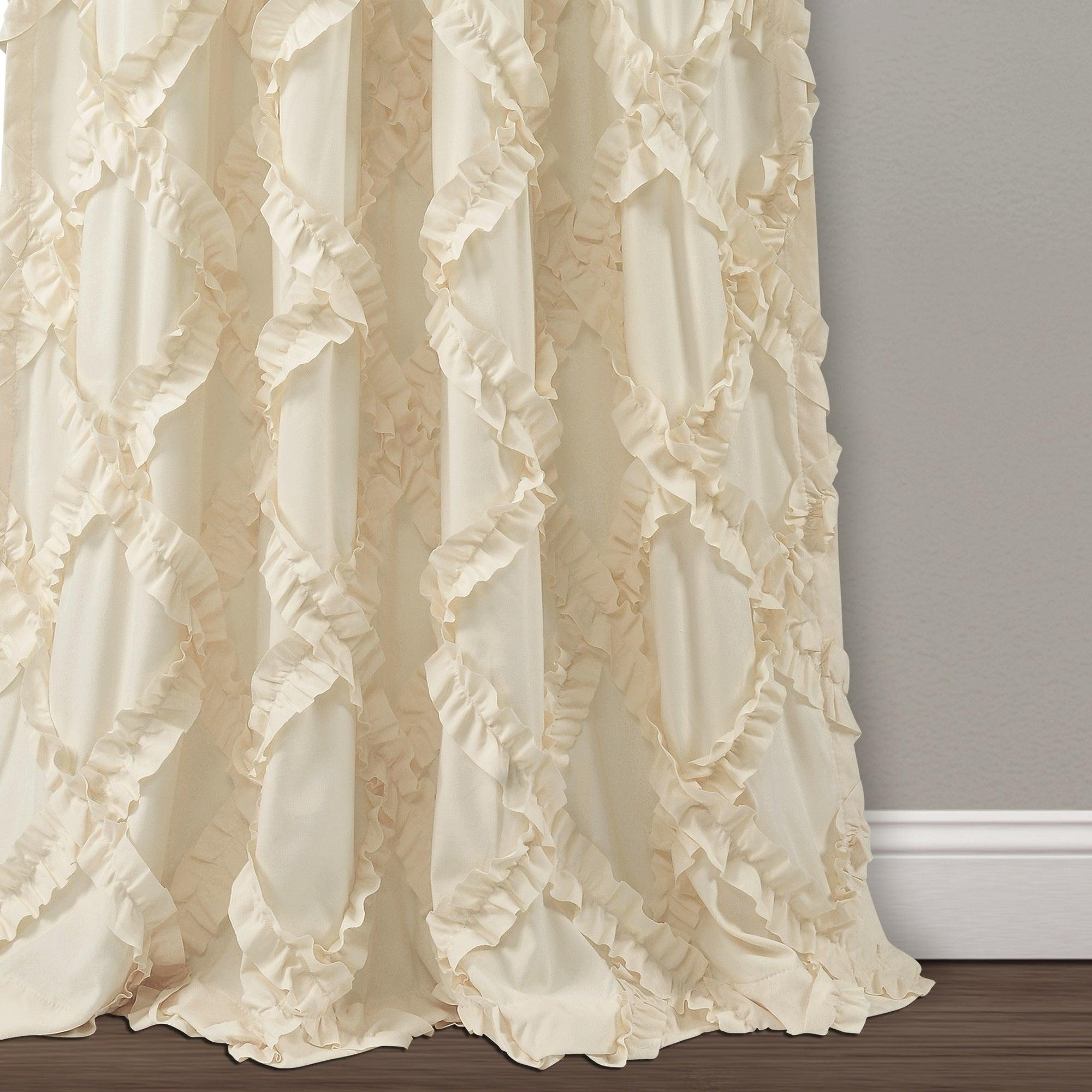 Lush Decor Ruffle Diamond Curtain Panel Pair With Ruffle Diamond Curtain Panel Pairs (View 13 of 20)
