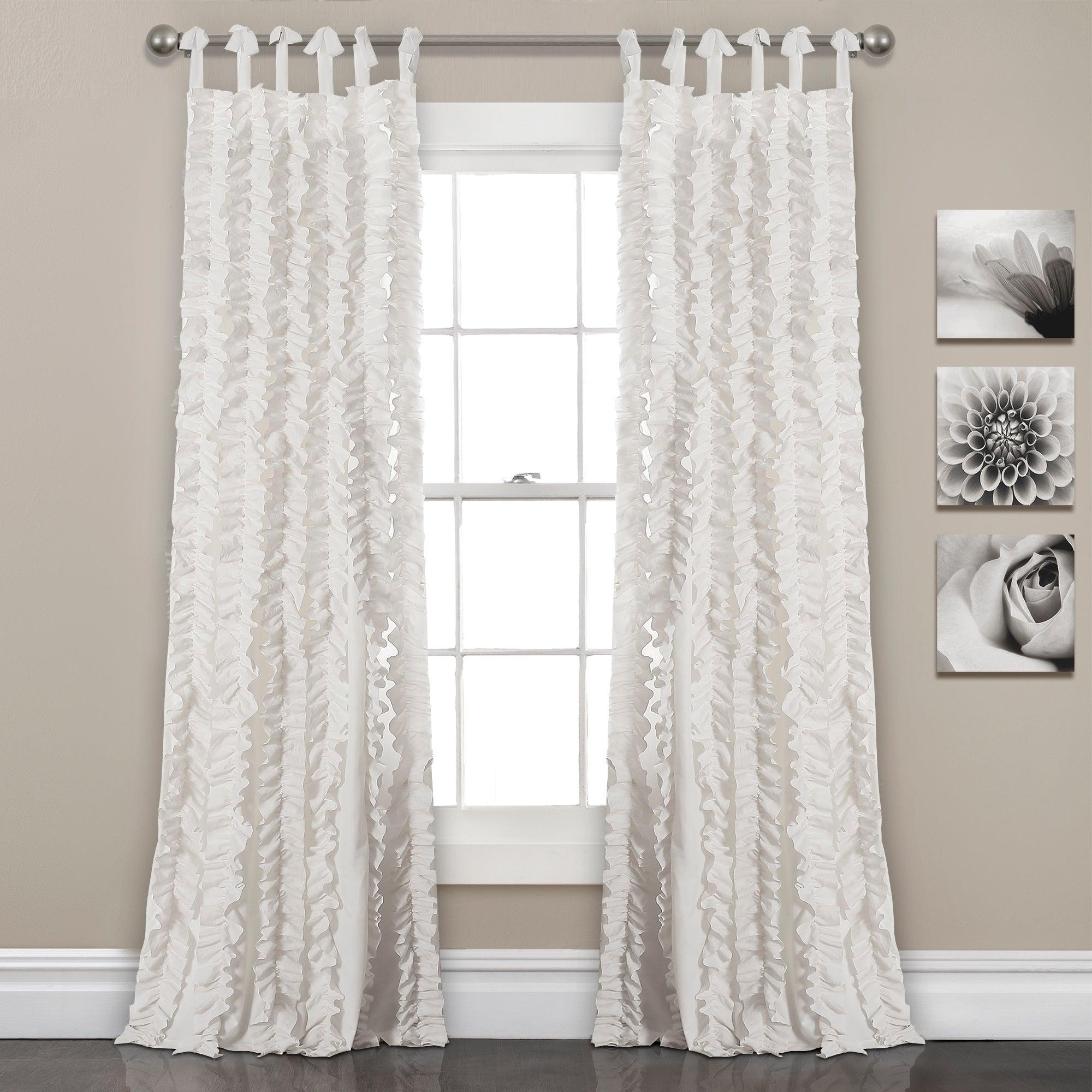 "Lush Decor Sophia Ruffle Window Curtain Panel Pair – 40""w X 84""l For The Gray Barn Gila Curtain Panel Pairs (View 21 of 30)"