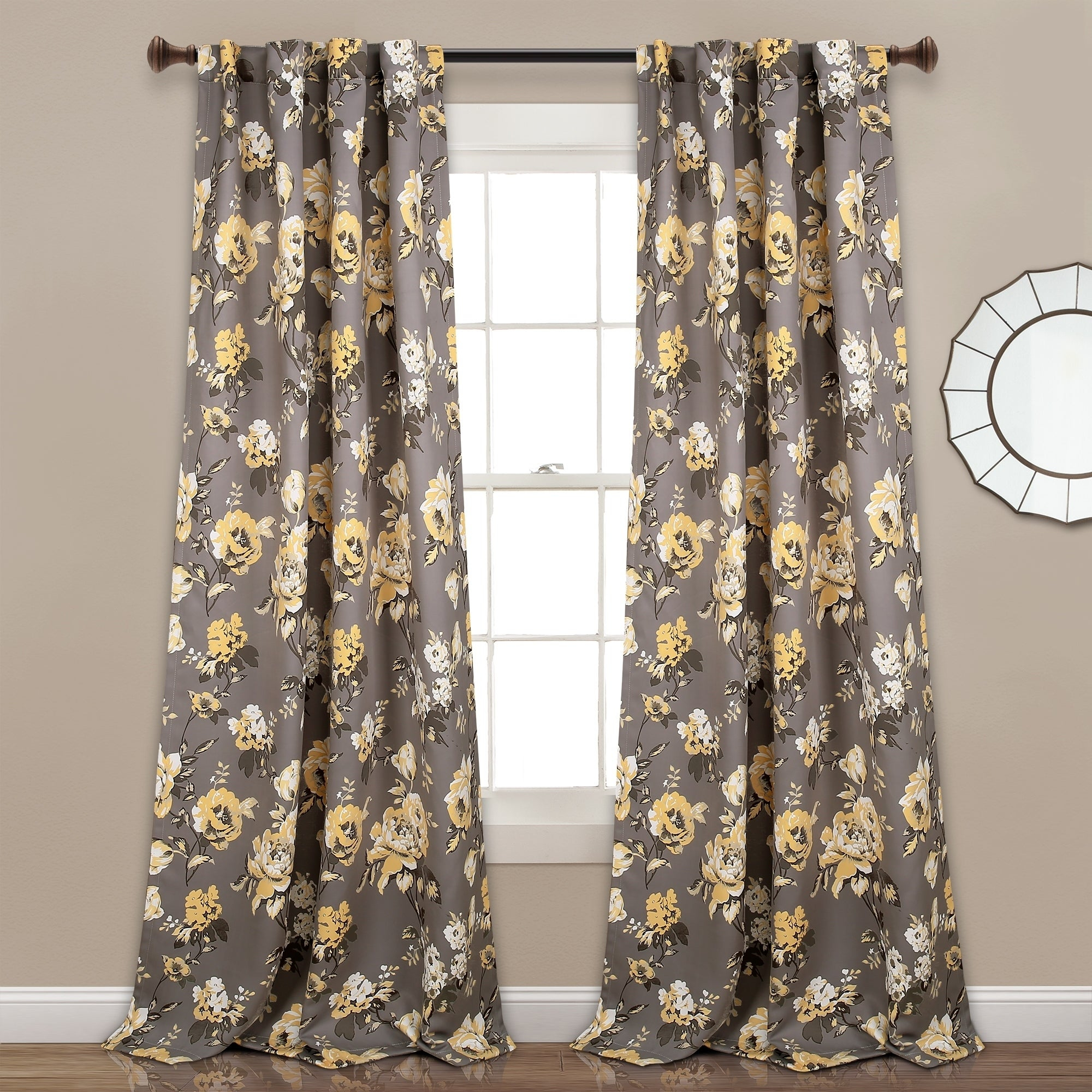 Lush Decor Tania Floral Room Darkening Window Curtain Panel Pair inside Floral Pattern Room Darkening Window Curtain Panel Pairs (Image 12 of 20)
