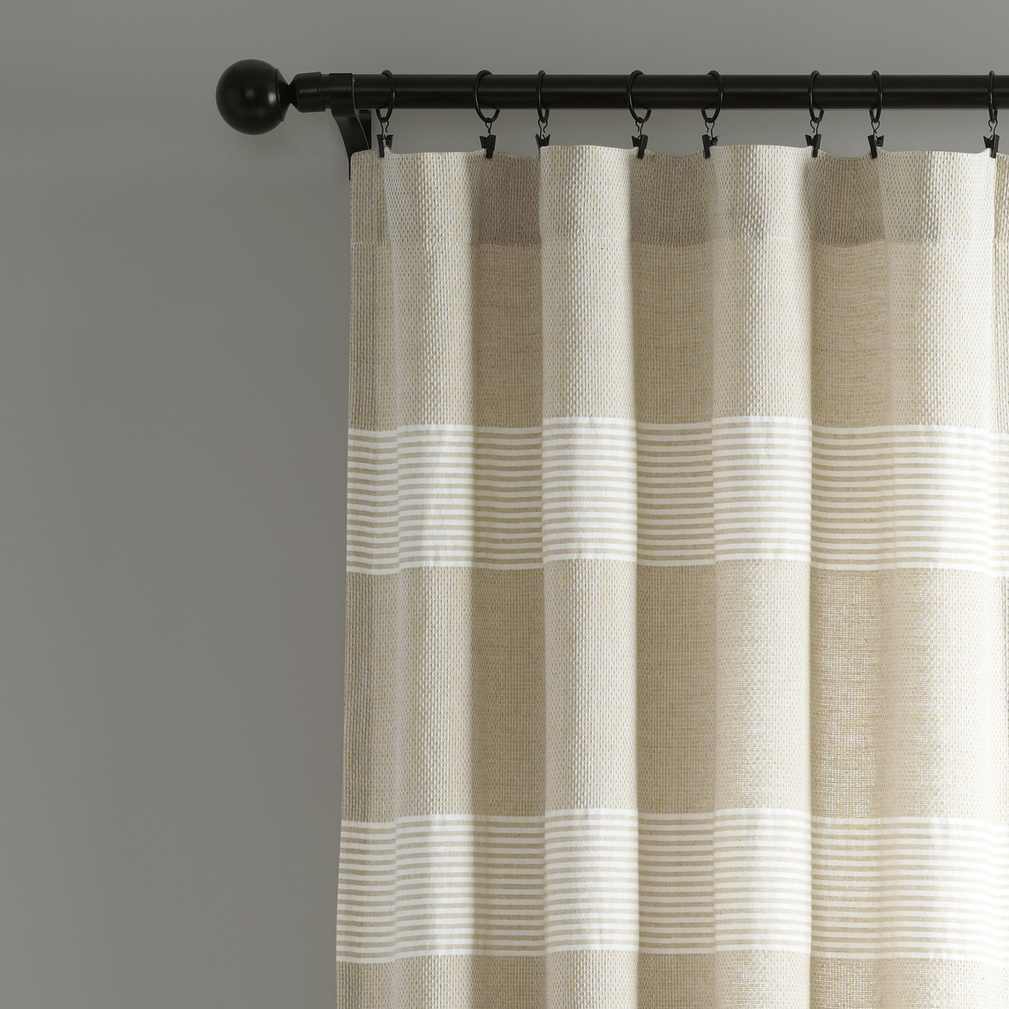 Lush Decor Tucker Stripe Yarn Dyed Cotton Knotted Tassel Window Curtain Panel Pair Inside Ombre Stripe Yarn Dyed Cotton Window Curtain Panel Pairs (View 4 of 20)