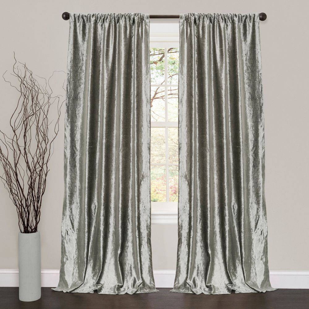 Lush Decor Velvet Dream Silver 84 Inch Curtain Panel Pair In Intended For Velvet Dream Silver Curtain Panel Pairs (View 2 of 31)