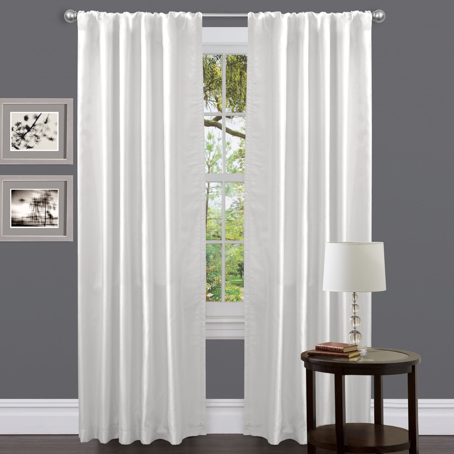 Lush Decor Venetian Solid Room Darkening Rod Pocket Single inside Luxury Collection Venetian Sheer Curtain Panel Pairs (Image 14 of 20)