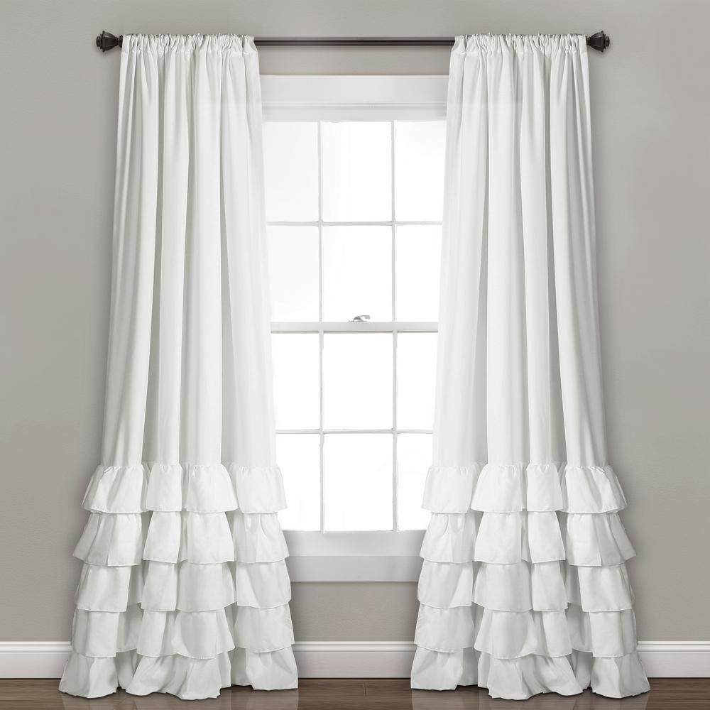 Lush Decor White Allison Ruffle Window Panel – 84 In. X 40 In (Image 9 of 20)