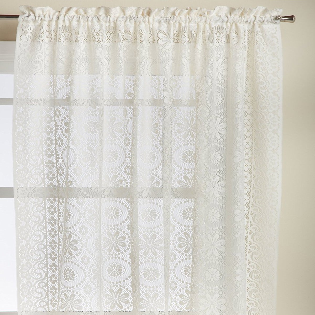 Luxurious Old World Style Lace Window Curtain Panel Pertaining To Luxurious Old World Style Lace Window Curtain Panels (View 3 of 20)