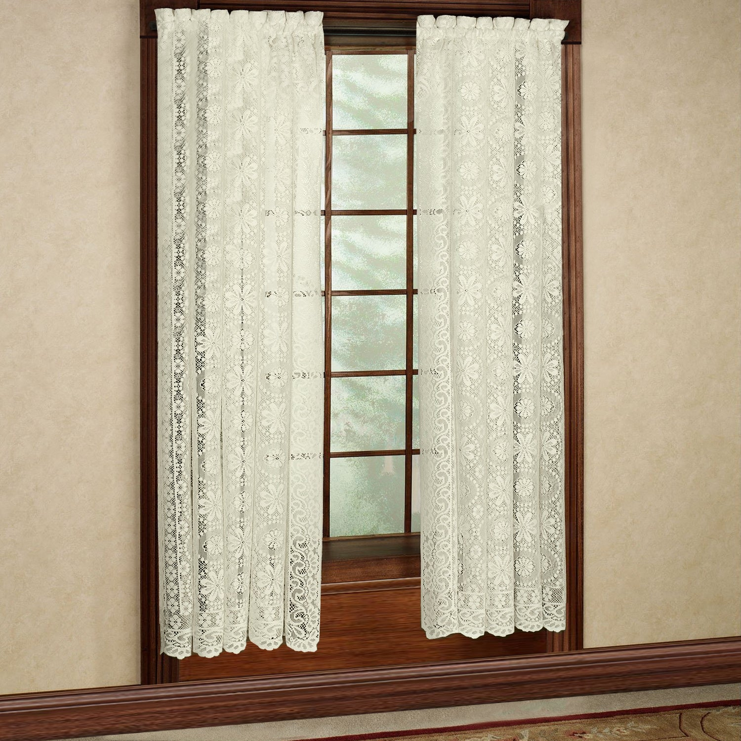 Luxurious Old World Style Lace Window Curtain Panel Regarding Luxurious Old World Style Lace Window Curtain Panels (View 2 of 20)