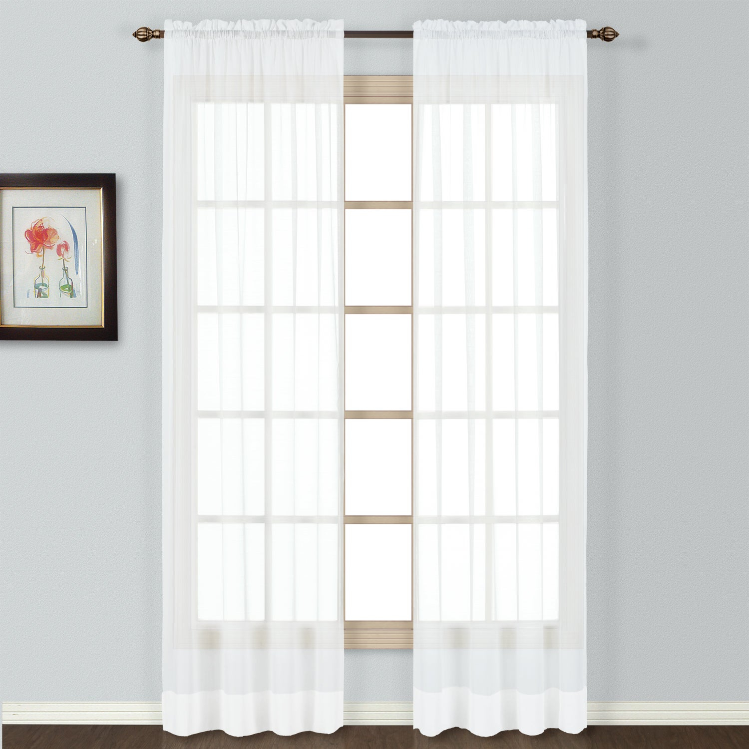 Luxury Collection Batiste Semi Sheer Single Curtain Panel Within Luxury Collection Summit Sheer Curtain Panel Pairs (View 12 of 20)