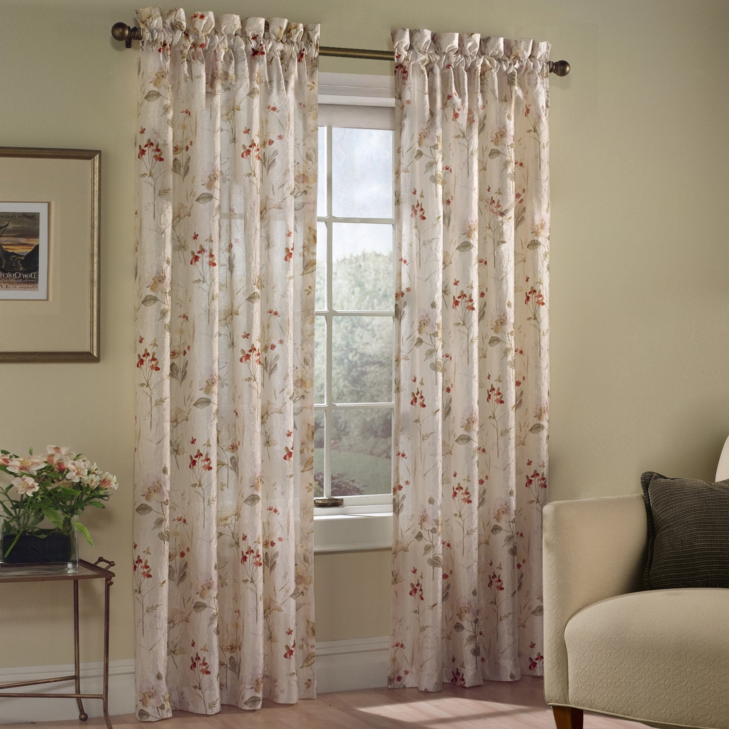 Luxury Collection Chantelle Light Filtering Single Curtain Panel Intended For Luxury Collection Faux Leather Blackout Single Curtain Panels (View 5 of 20)