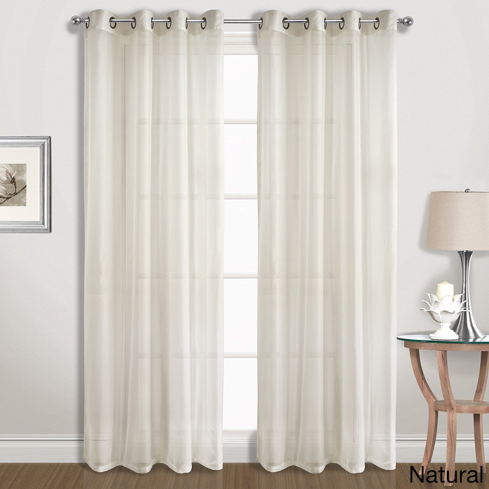 Luxury Collection Extra-Wide Grommet Sheer Voile Curtain Panel Pair for Luxury Collection Venetian Sheer Curtain Panel Pairs (Image 15 of 20)