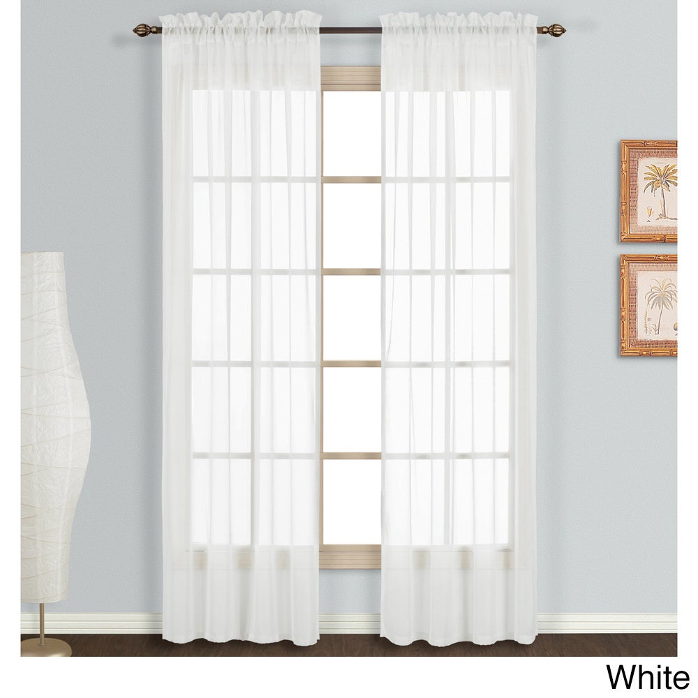 Luxury Collection Monte Carlo Sheer Curtain Panel Pair Pertaining To Luxury Collection Monte Carlo Sheer Curtain Panel Pairs (View 3 of 20)
