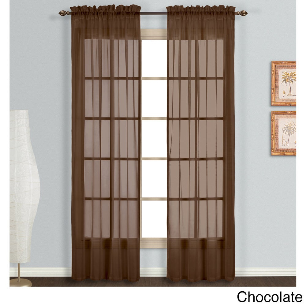 Luxury Collection Monte Carlo Sheer Curtain Panel Pair Within Luxury Collection Monte Carlo Sheer Curtain Panel Pairs (View 4 of 20)