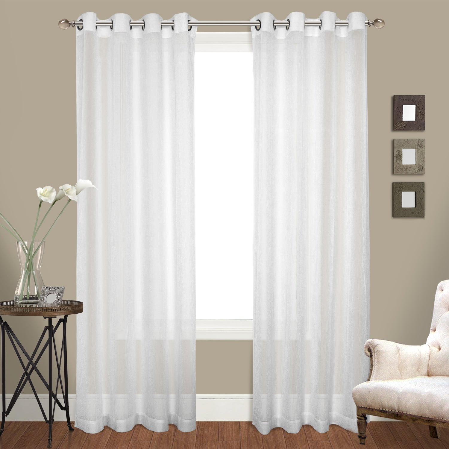 Luxury Collection Venetian Sheer Curtain Panel Pair Within Luxury Collection Monte Carlo Sheer Curtain Panel Pairs (View 5 of 20)