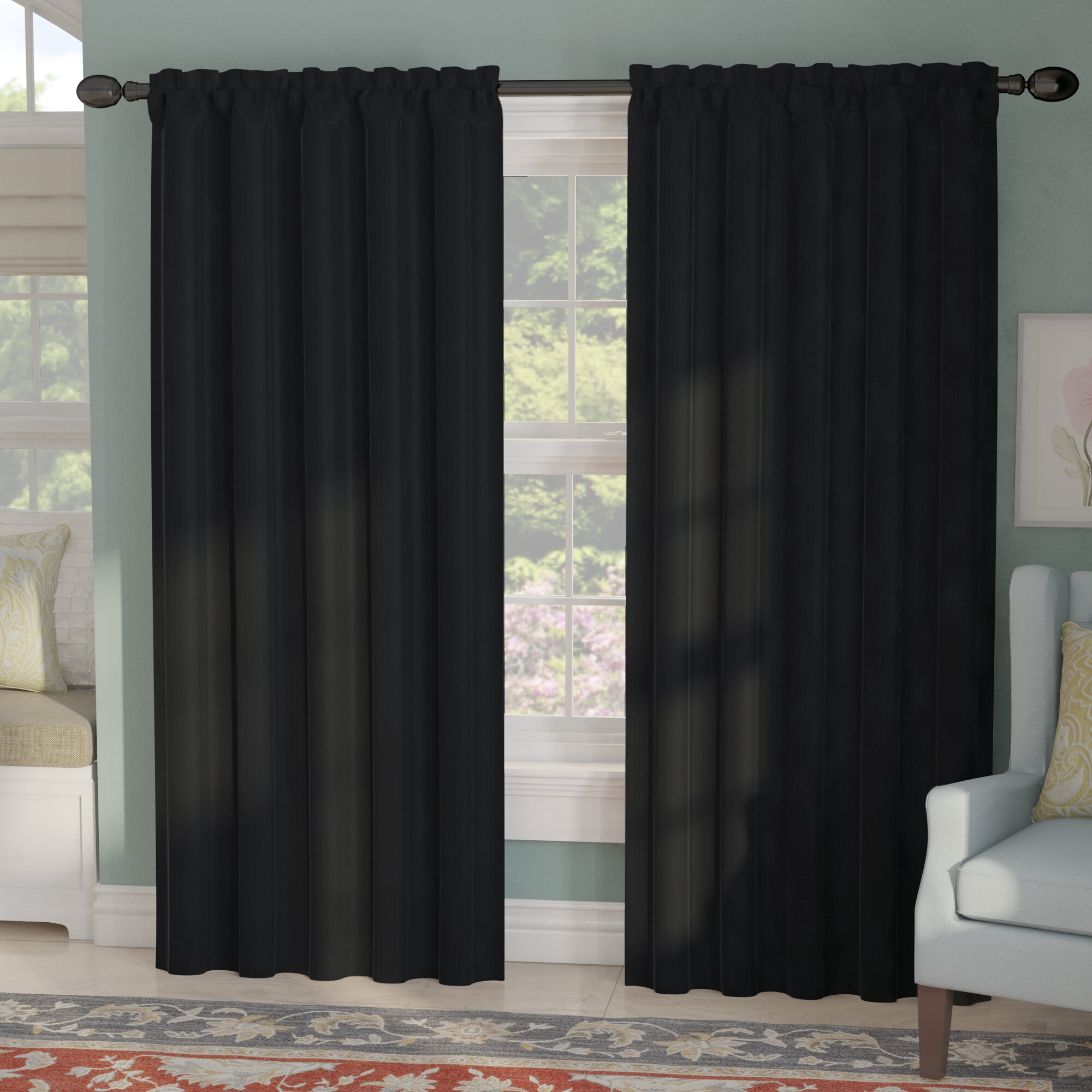 Mable Solid Blackout Thermal Rod Pocket Curtain Panels Throughout Thermal Rod Pocket Blackout Curtain Panel Pairs (View 12 of 30)