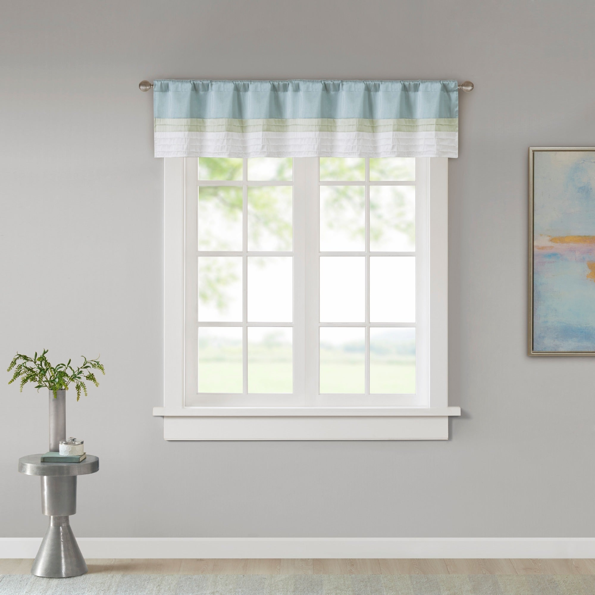 Madison Park Chester Pieced And Pintuck Lined Window Valance With Rod Pocket Finish Inside Chester Polyoni Pintuck Curtain Panels (View 14 of 20)
