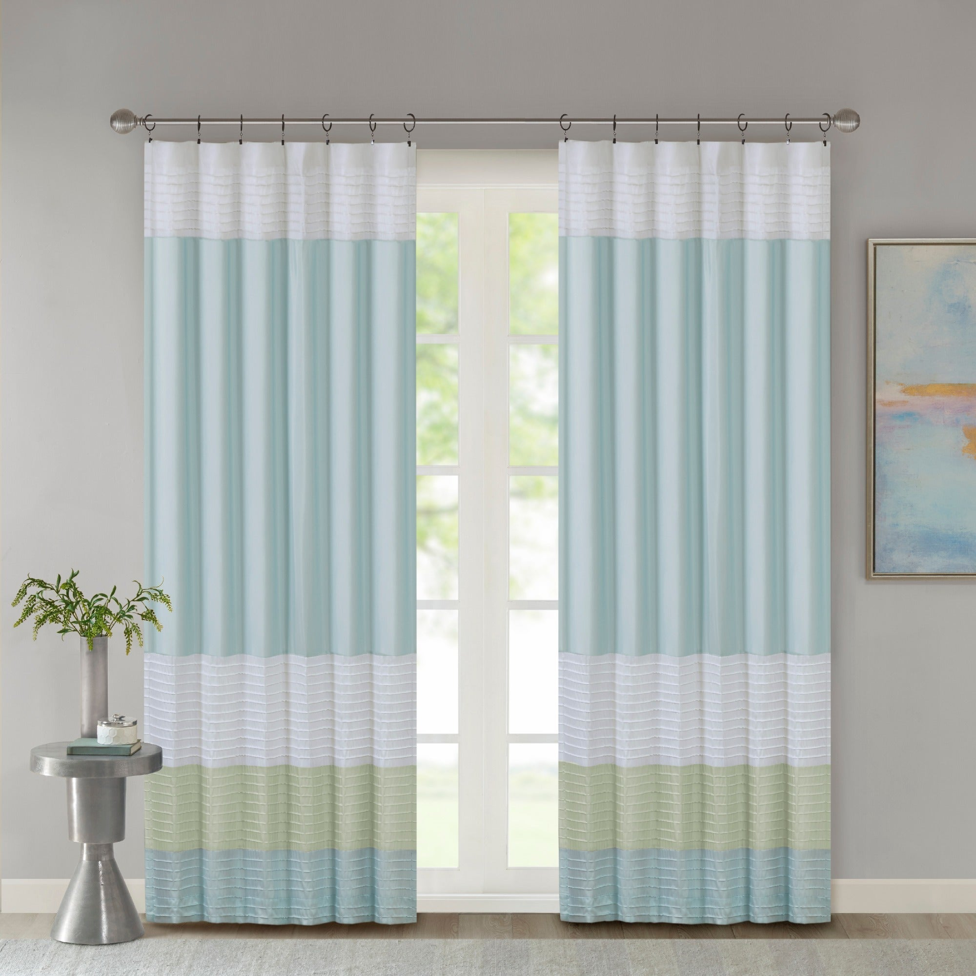 Popular Photo of Chester Polyoni Pintuck Curtain Panels