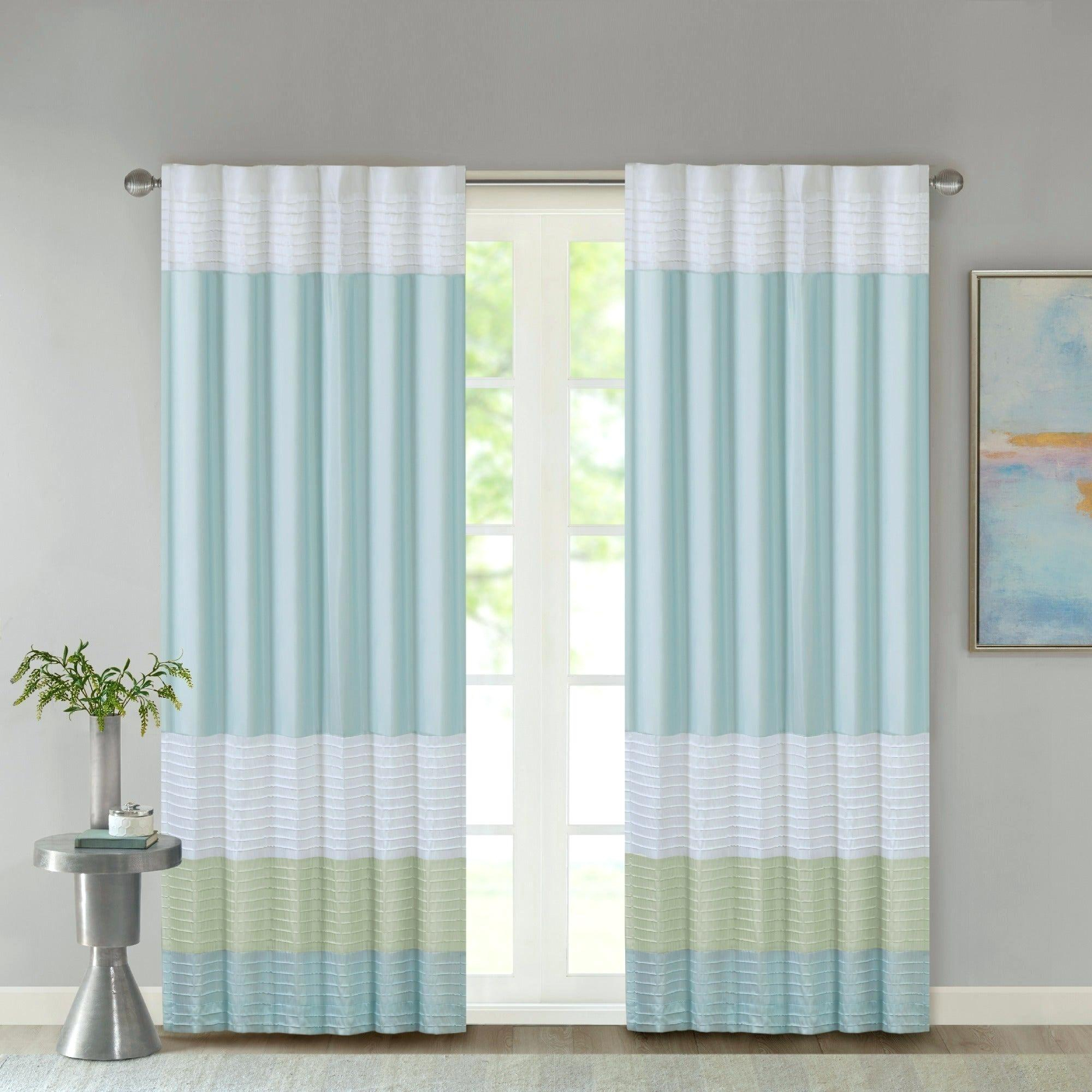 Madison Park Curtains Inside Fretwork Print Pattern Single Curtain Panels (View 12 of 20)