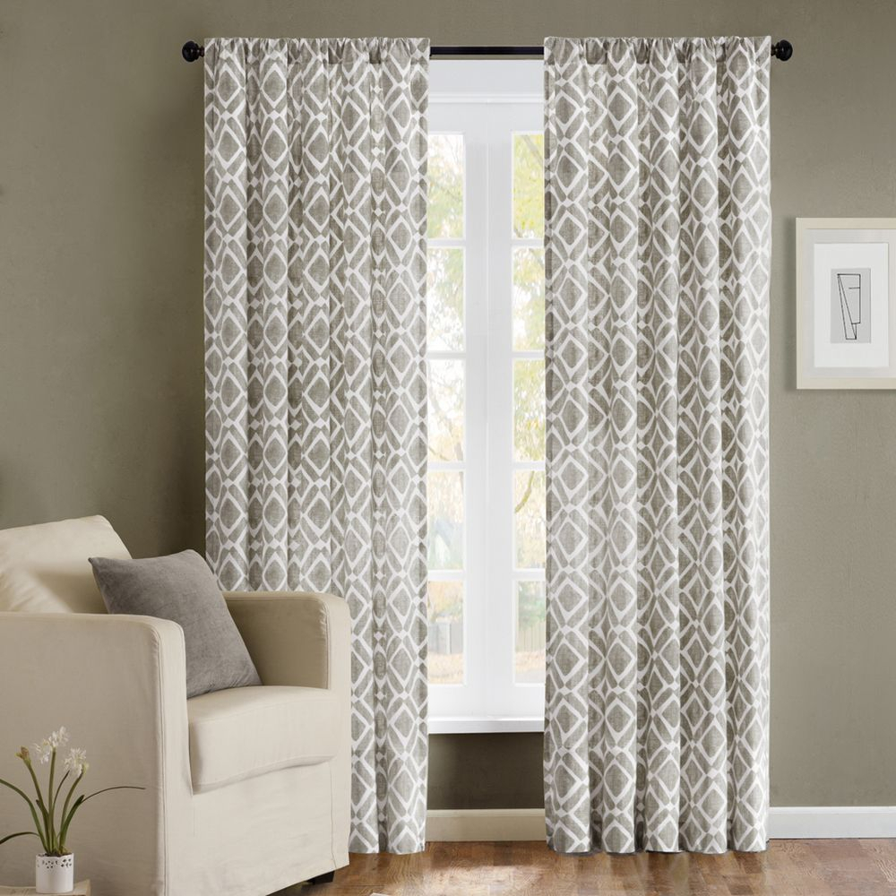 Madison Park Ella Curtain Panel | Overstock™ Shopping In Ella Window Curtain Panels (View 3 of 20)