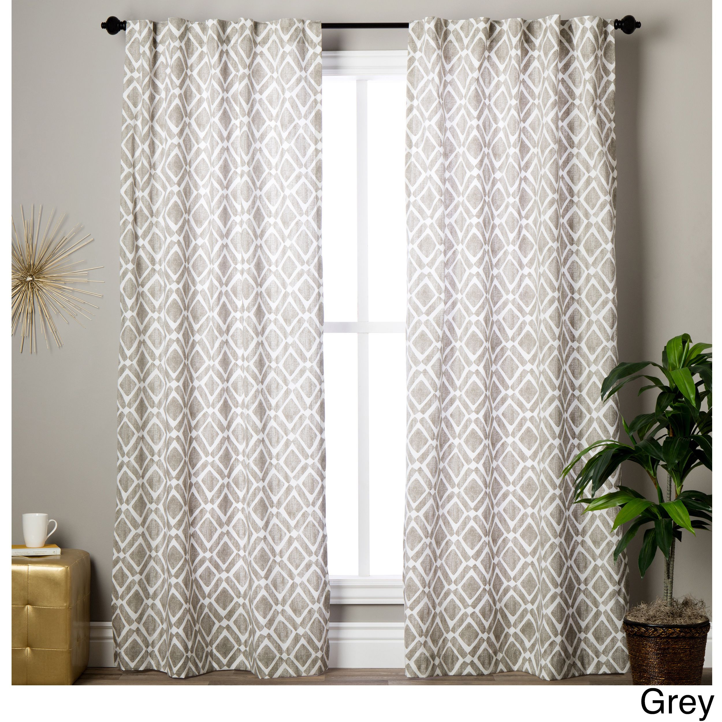 Madison Park Ella Curtain Panel | Overstock Shopping Pertaining To Ella Window Curtain Panels (View 10 of 20)
