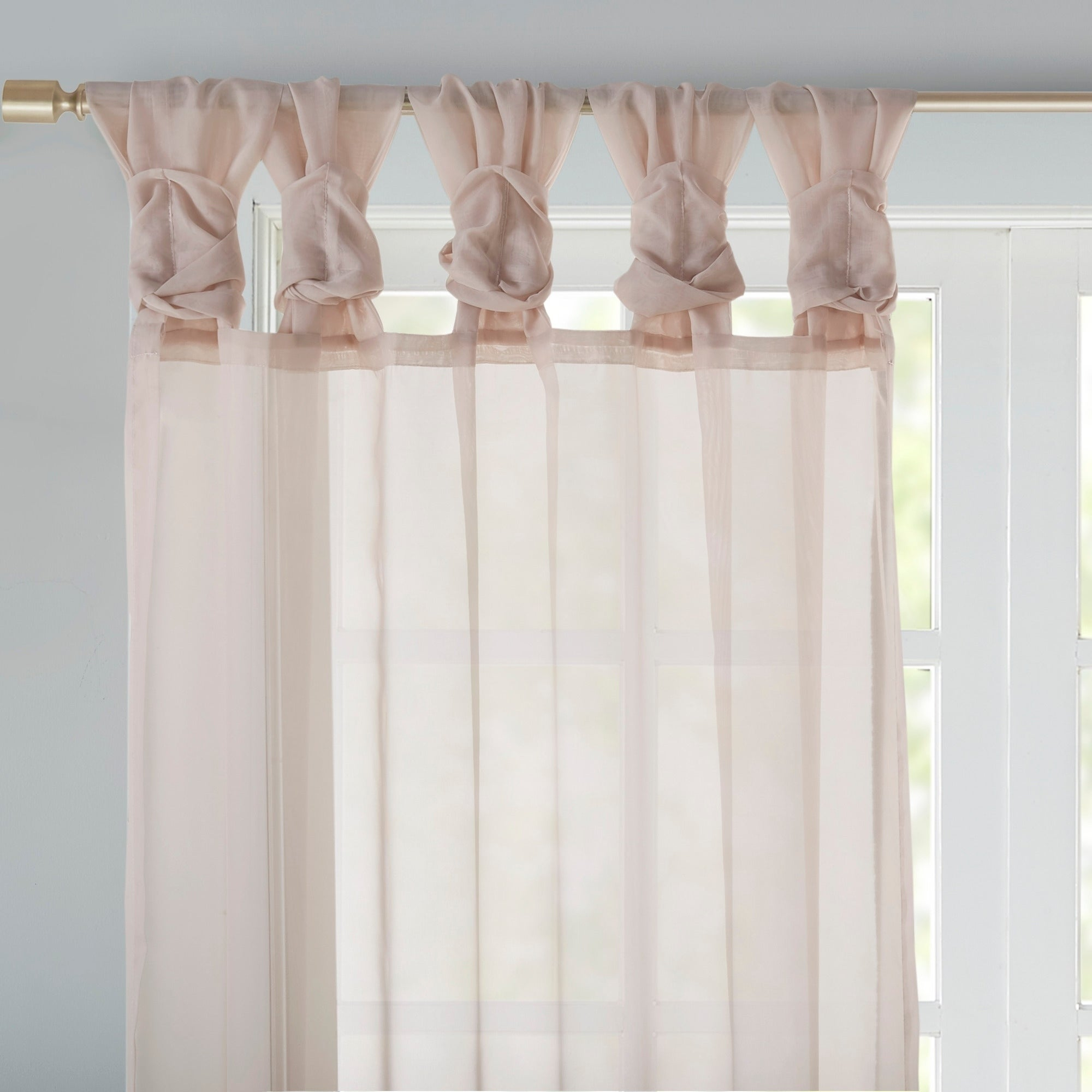 Madison Park Elowen White Twist Tab Voile Sheer Curtain Panel Pair Regarding Elowen White Twist Tab Voile Sheer Curtain Panel Pairs (View 6 of 20)