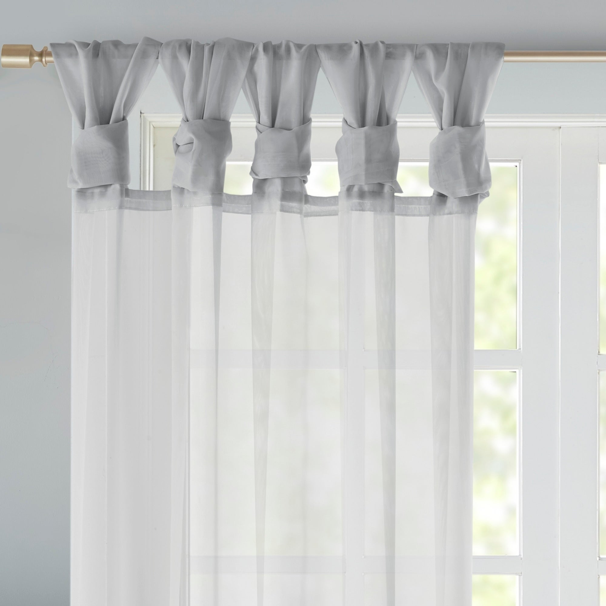 Madison Park Elowen White Twist Tab Voile Sheer Curtain Panel Pair With Regard To Elowen White Twist Tab Voile Sheer Curtain Panel Pairs (View 5 of 20)