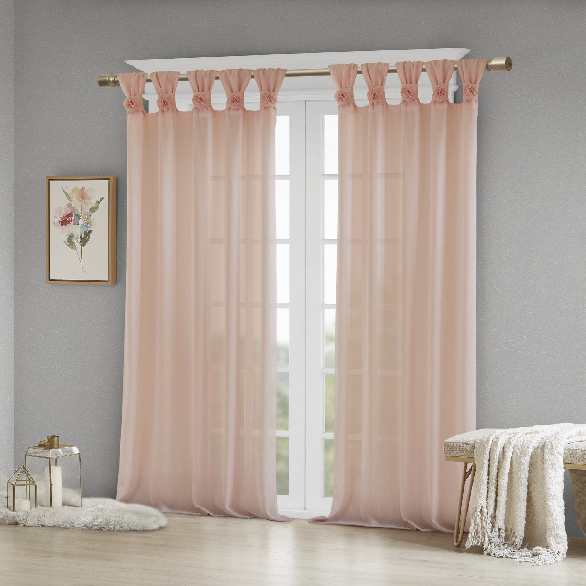 Madison Park Florah Tab Top Sheer Single Curtain Panel Throughout Tab Top Sheer Single Curtain Panels (View 20 of 30)