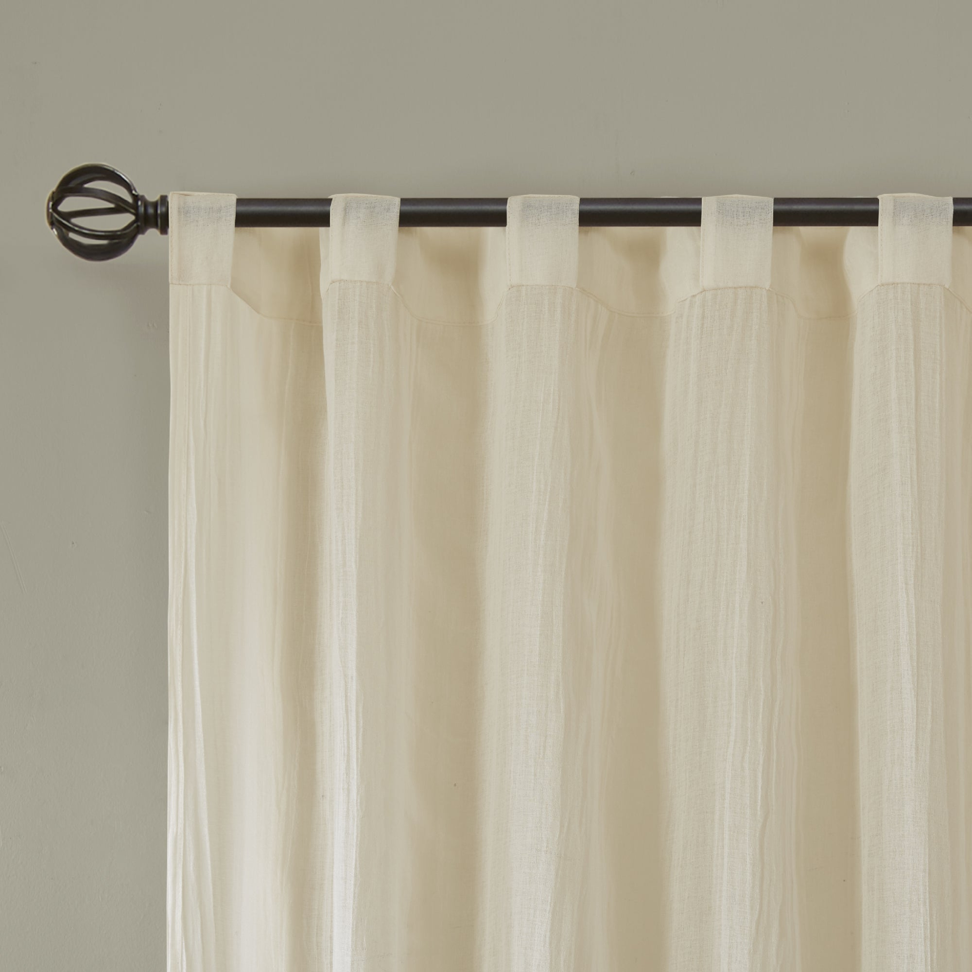 Madison Park Kaylee Solid Crushed Sheer Window Curtain Pair With Kaylee Solid Crushed Sheer Window Curtain Pairs (View 6 of 20)