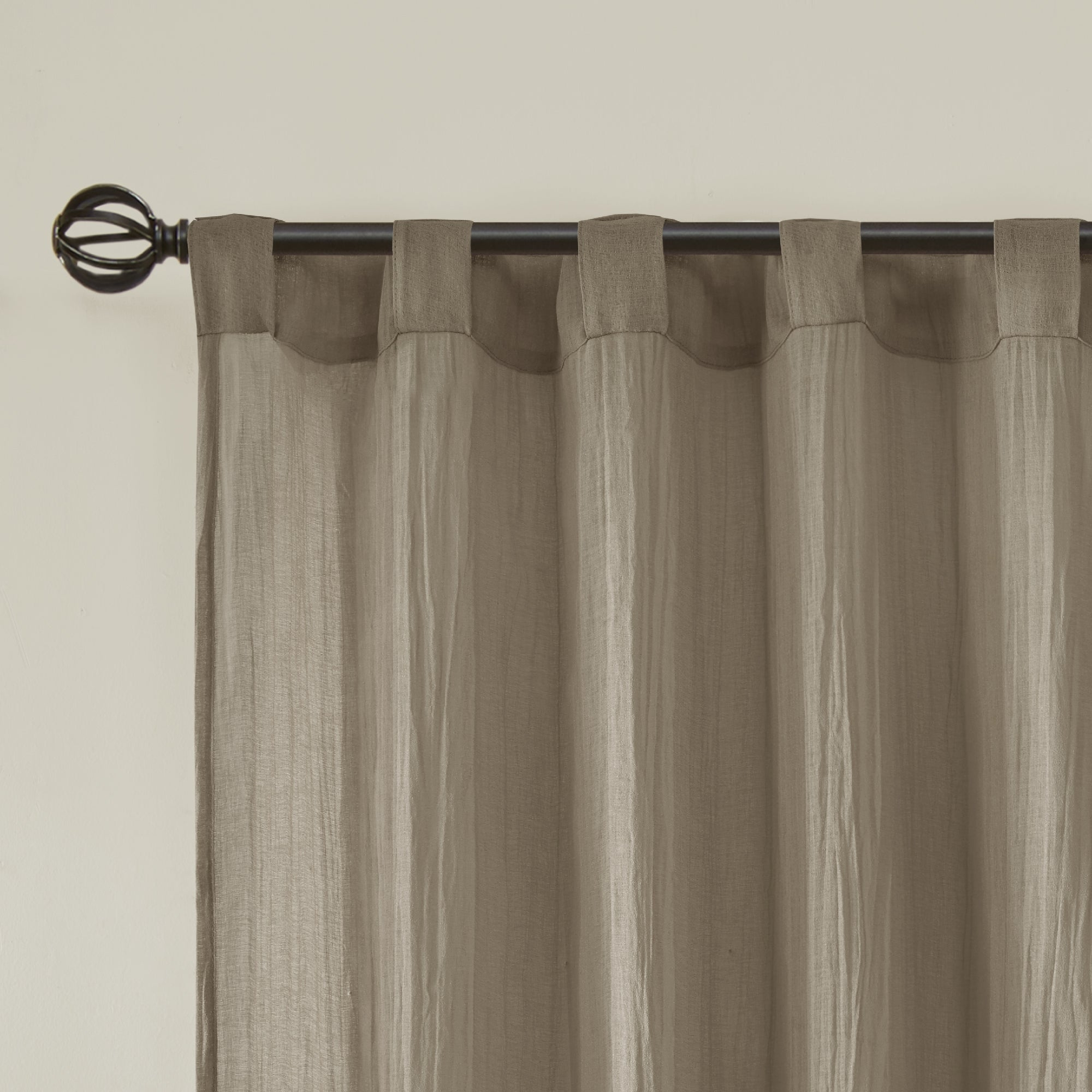 Madison Park Kaylee Solid Crushed Sheer Window Curtain Pair With Kaylee Solid Crushed Sheer Window Curtain Pairs (View 5 of 20)