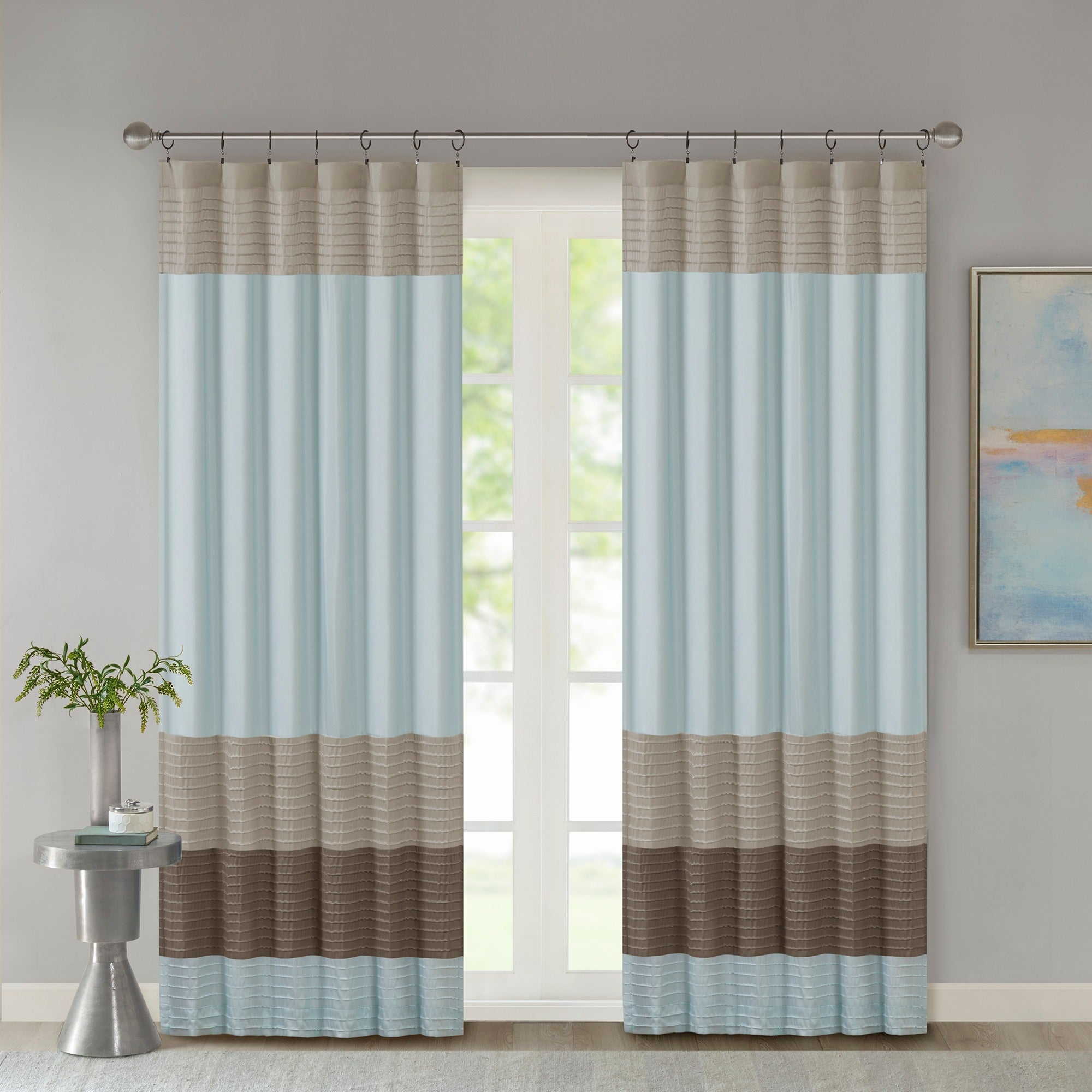 Madison Park Tradewinds Polyoni Pintuck Single Curtain Panel – 50 X 84 Pertaining To Chester Polyoni Pintuck Curtain Panels (View 7 of 20)