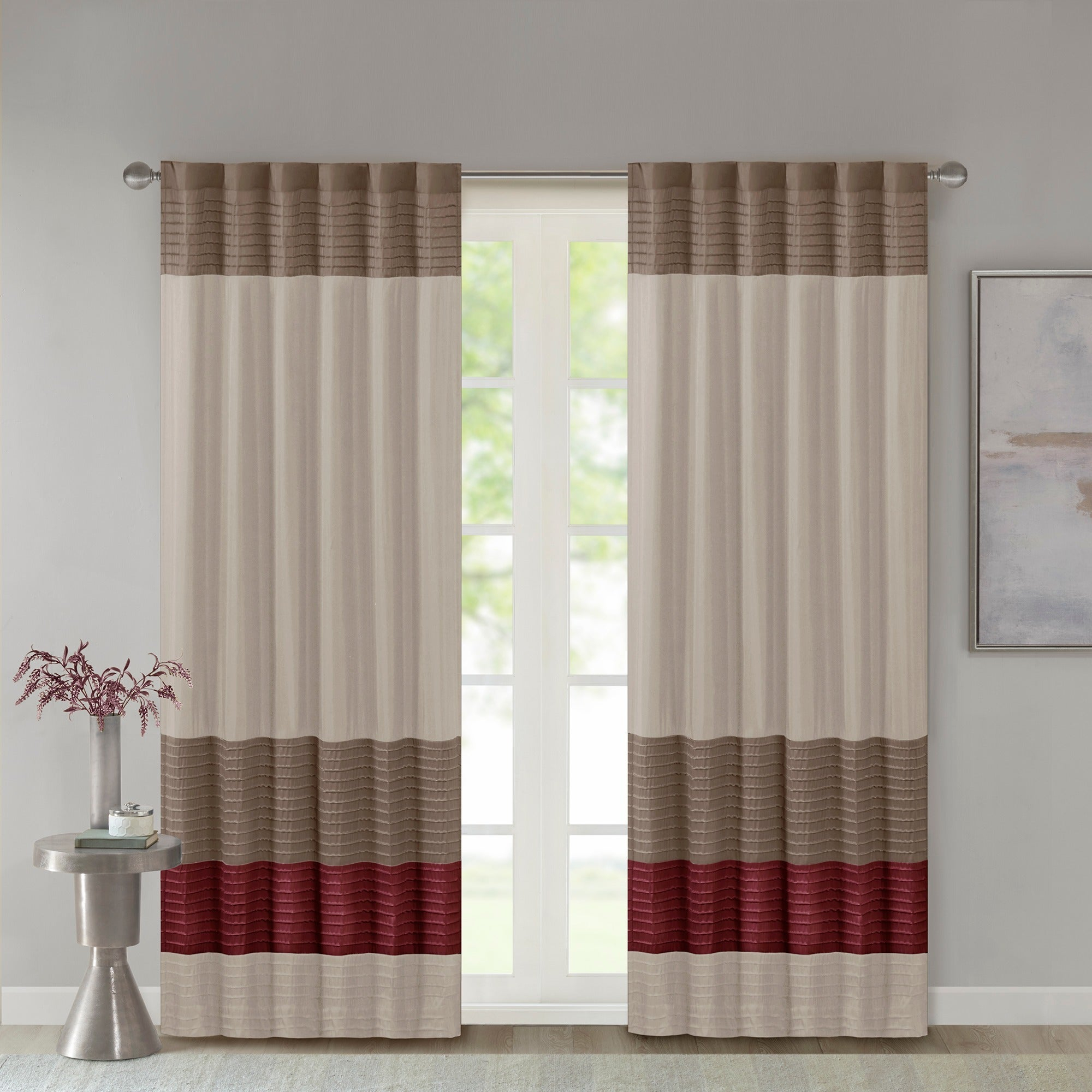 Madison Park Tradewinds Polyoni Pintuck Single Curtain Panel – 50 X 84 With Regard To Chester Polyoni Pintuck Curtain Panels (View 14 of 20)