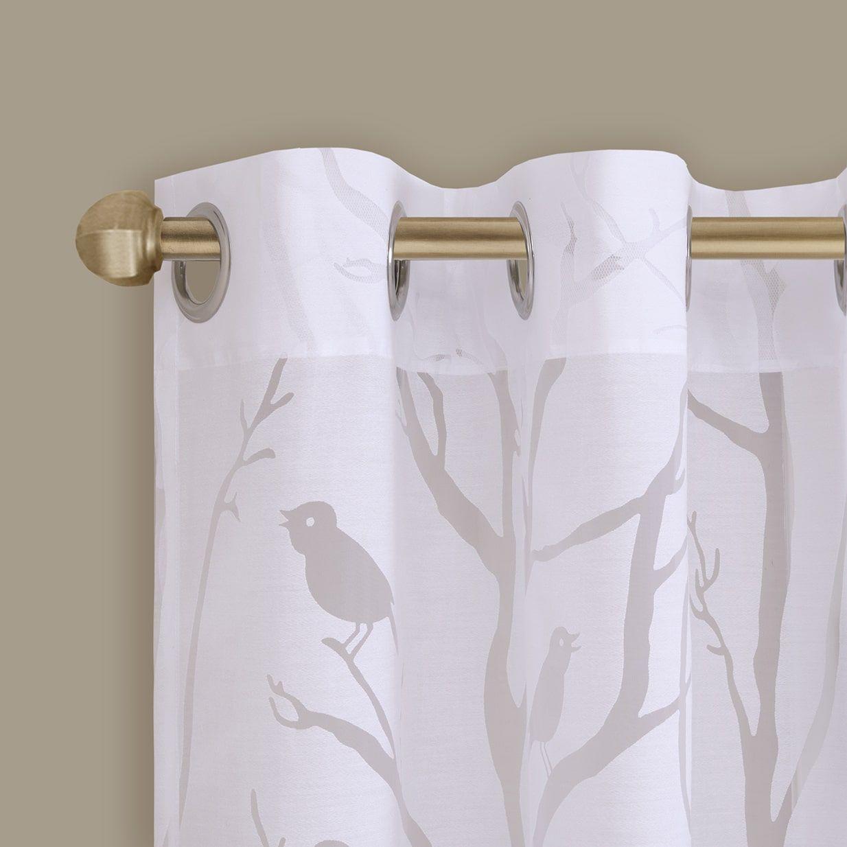 Madison Park Vina Sheer Bird Curtain Panel   Overstock For Vina Sheer Bird Single Curtain Panels (View 4 of 30)