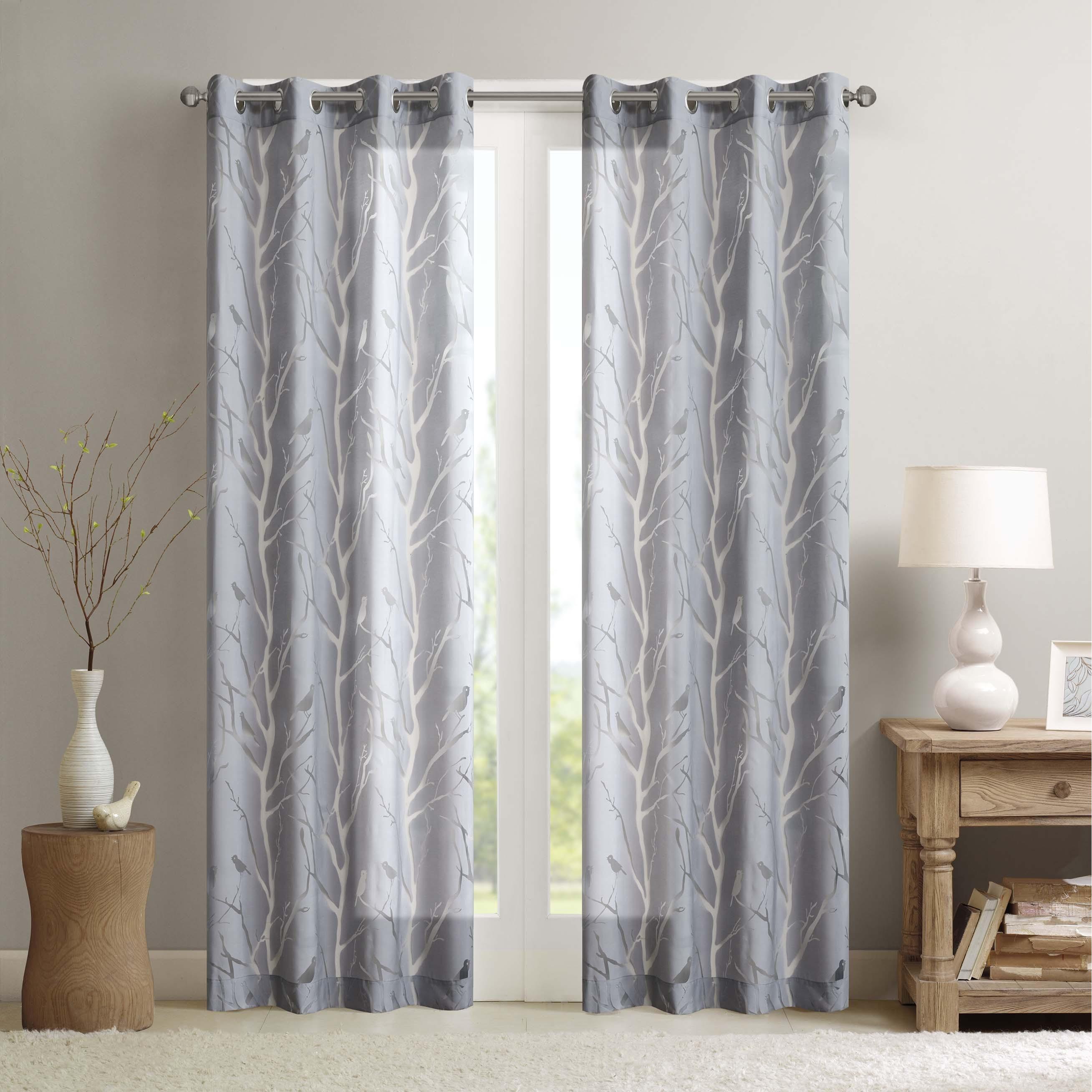 Madison Park Vina Sheer Bird Single Curtain Panel Pertaining To Vina Sheer Bird Single Curtain Panels (View 2 of 30)