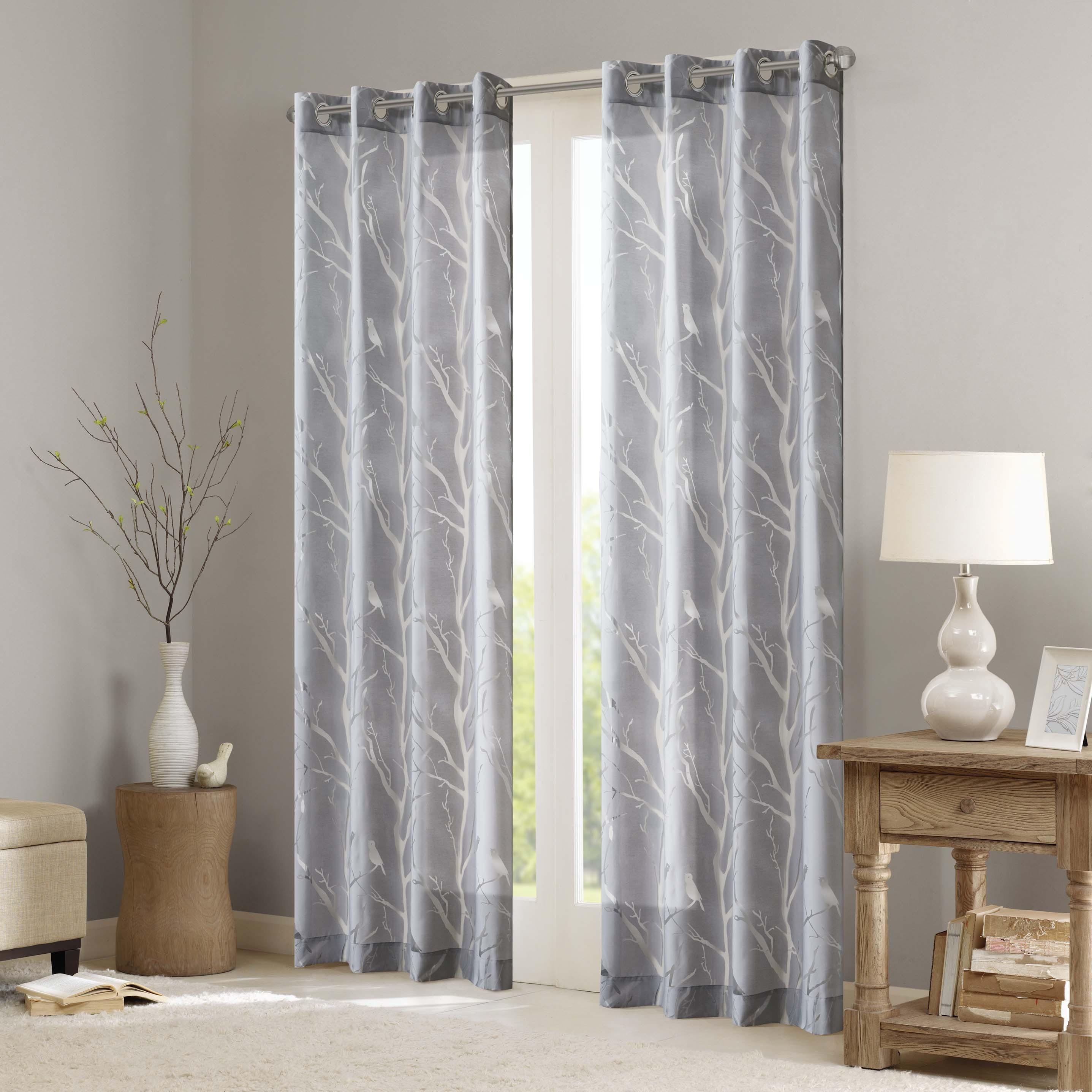 Madison Park Vina Sheer Bird Single Curtain Panel With Regard To Vina Sheer Bird Single Curtain Panels (View 3 of 30)